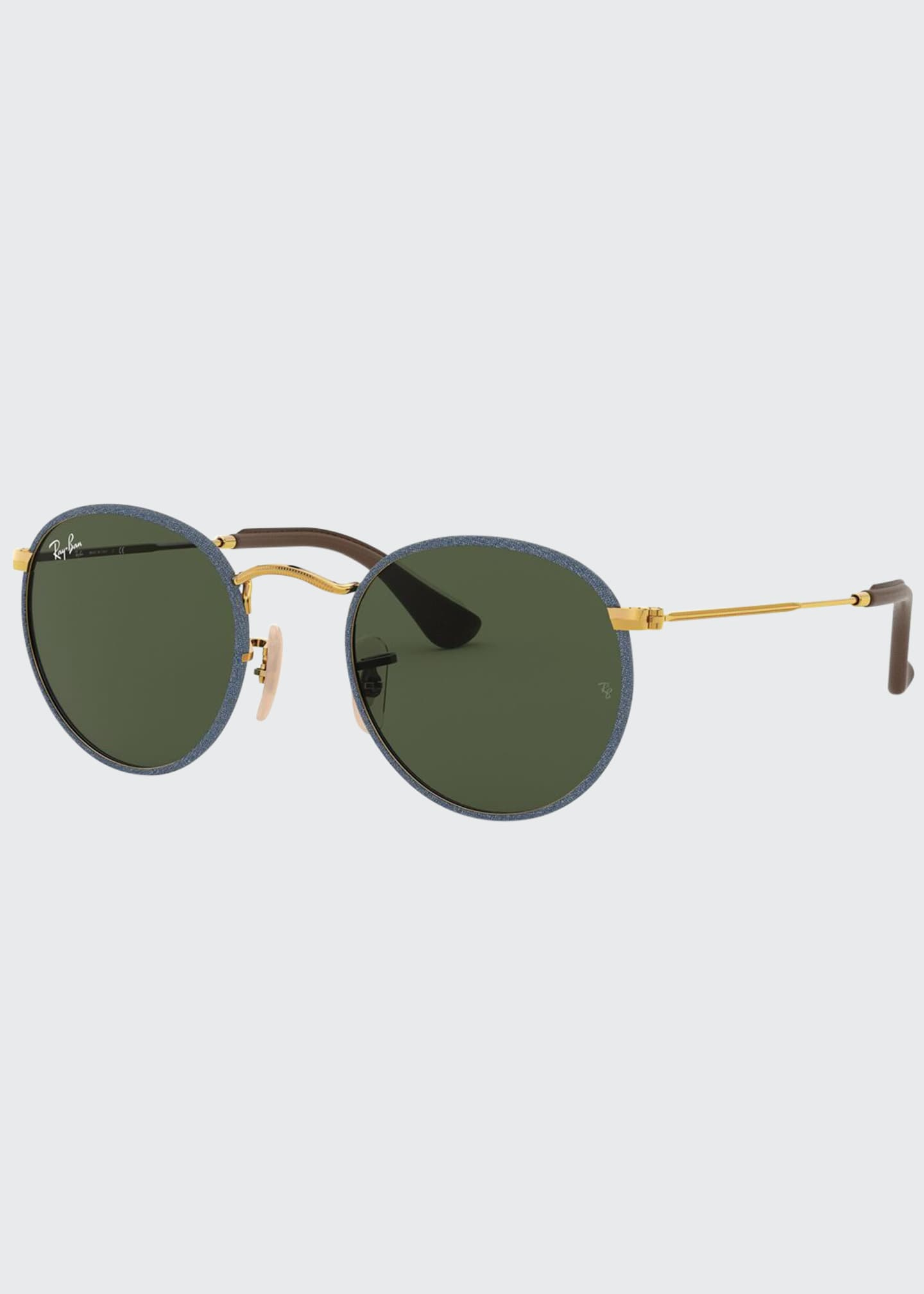 Ray-Ban Glitter Front Round Metal Sunglasses