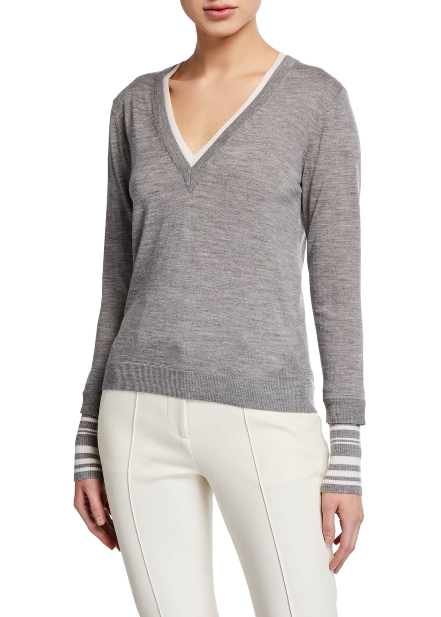 Image 3 of 3: Avory V-Neck Sweater