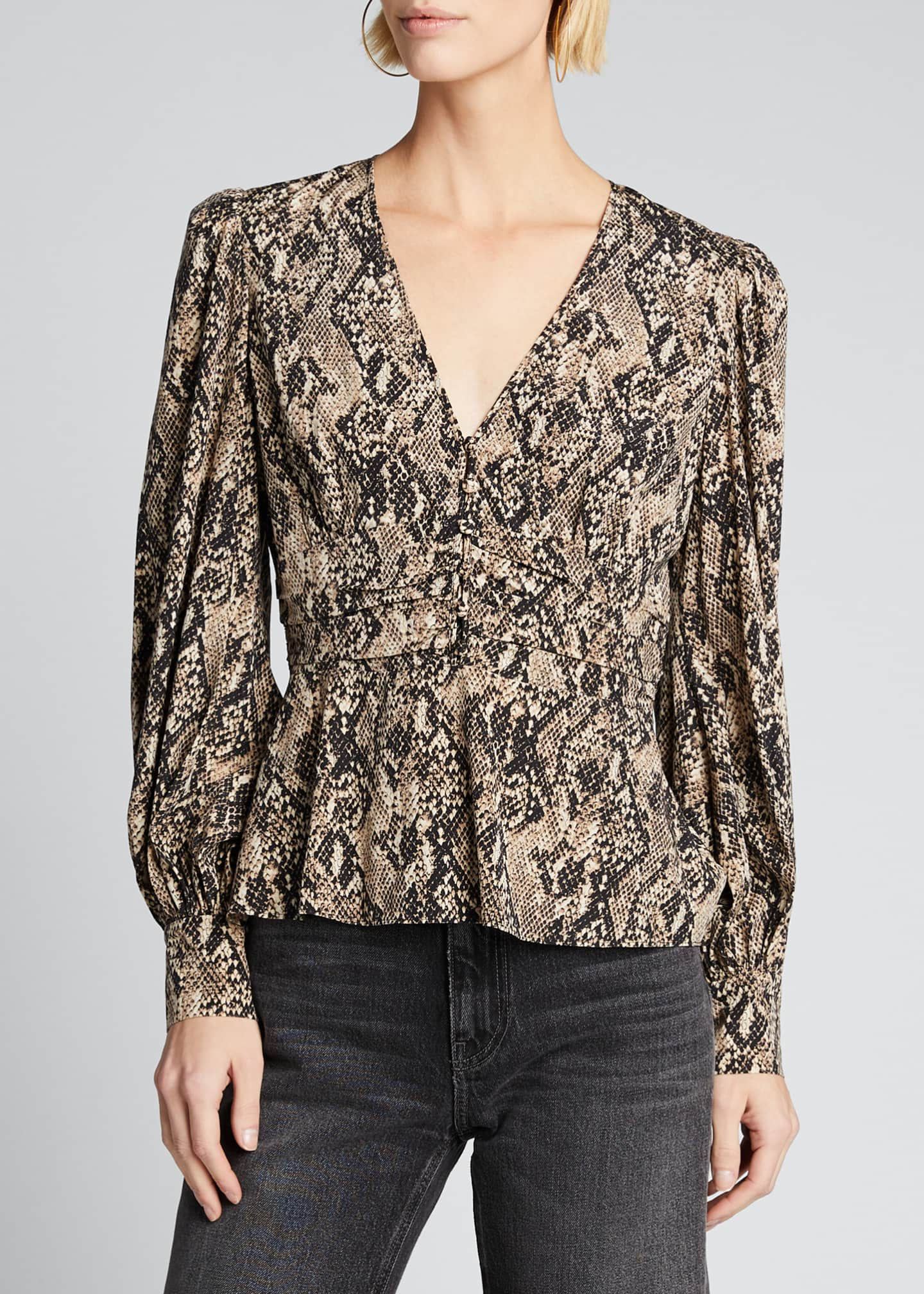 Image 3 of 5: Thea Button-Down Blouse
