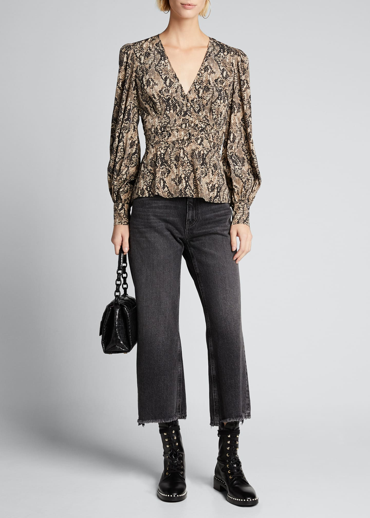 Image 1 of 5: Thea Button-Down Blouse