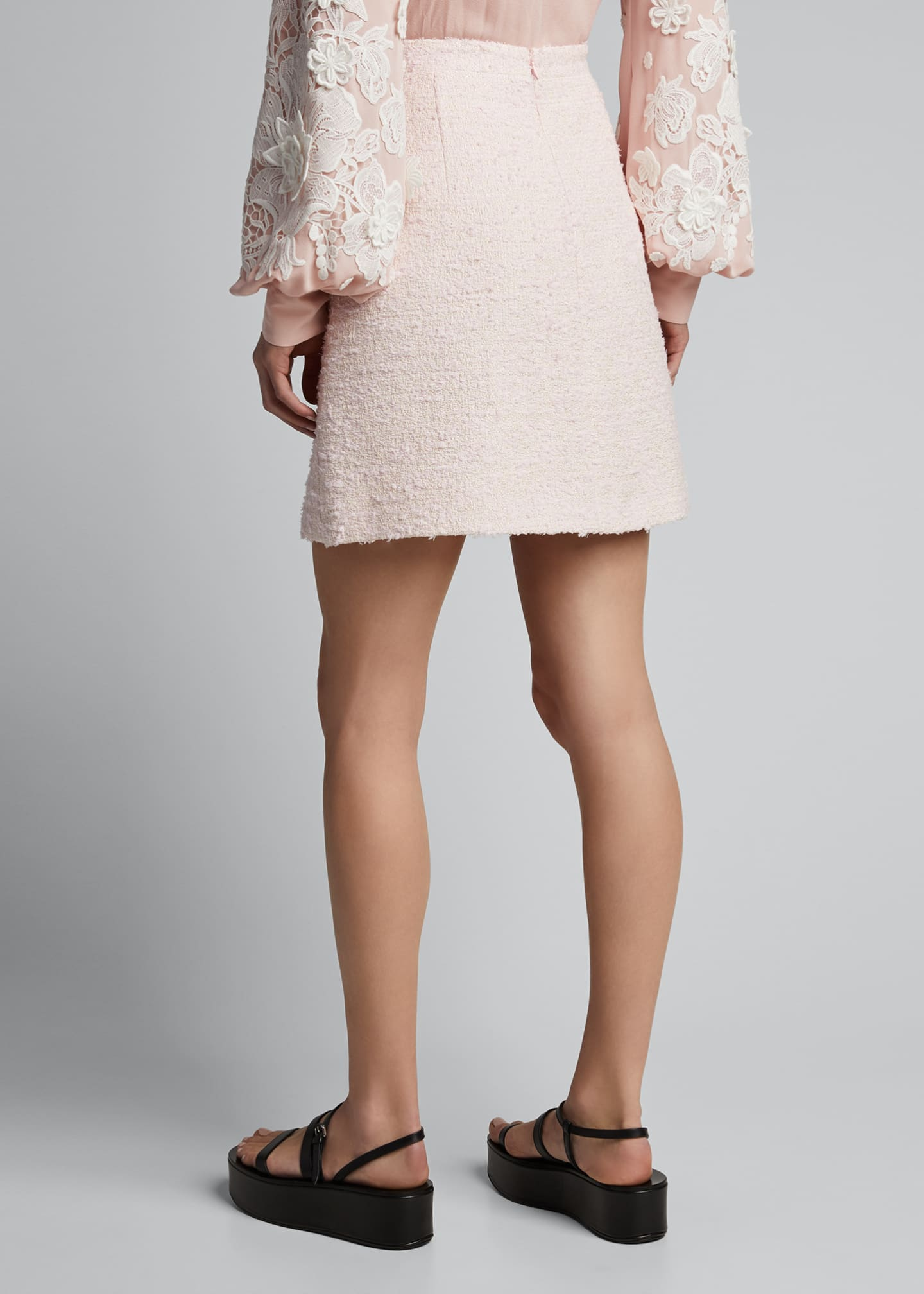 Image 2 of 5: Tweed Mini Skirt, Pink