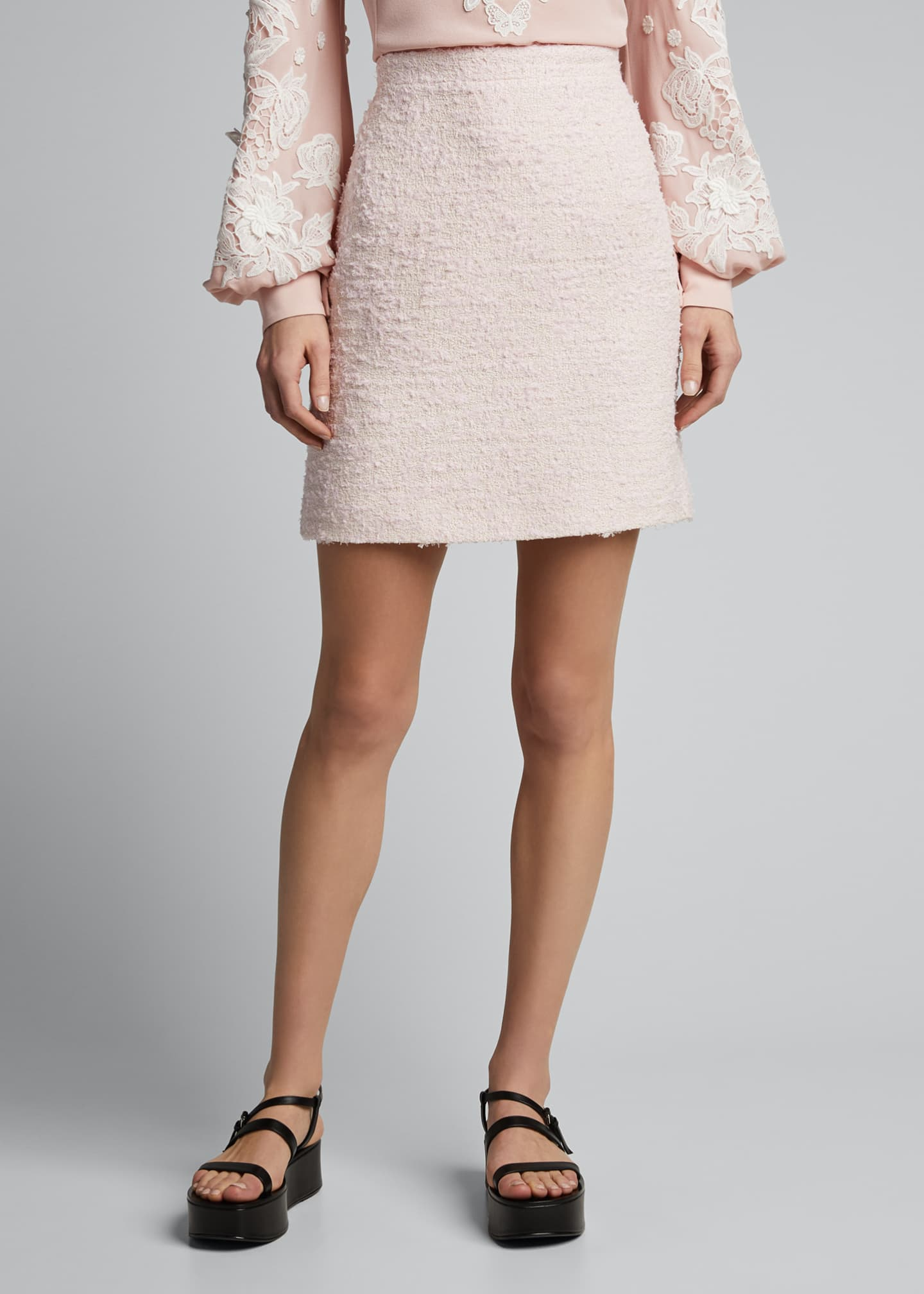 Image 3 of 5: Tweed Mini Skirt, Pink