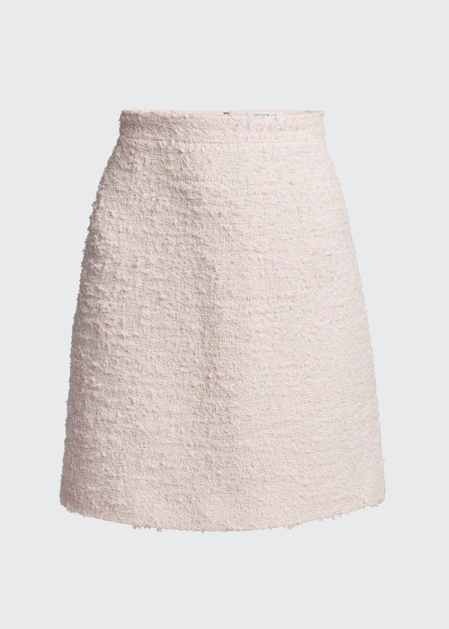 Image 5 of 5: Tweed Mini Skirt, Pink