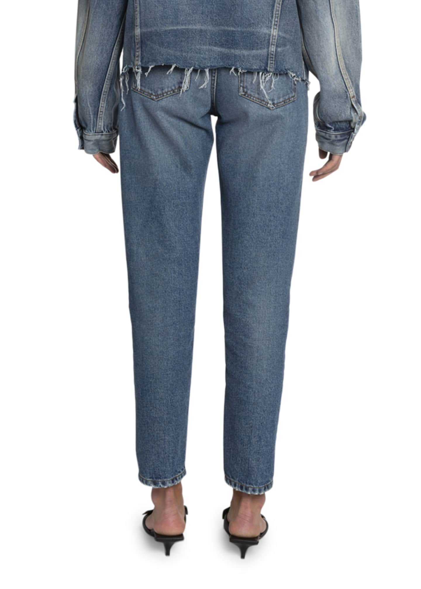 Image 2 of 2: High-Rise Cropped Slim-Leg Jeans