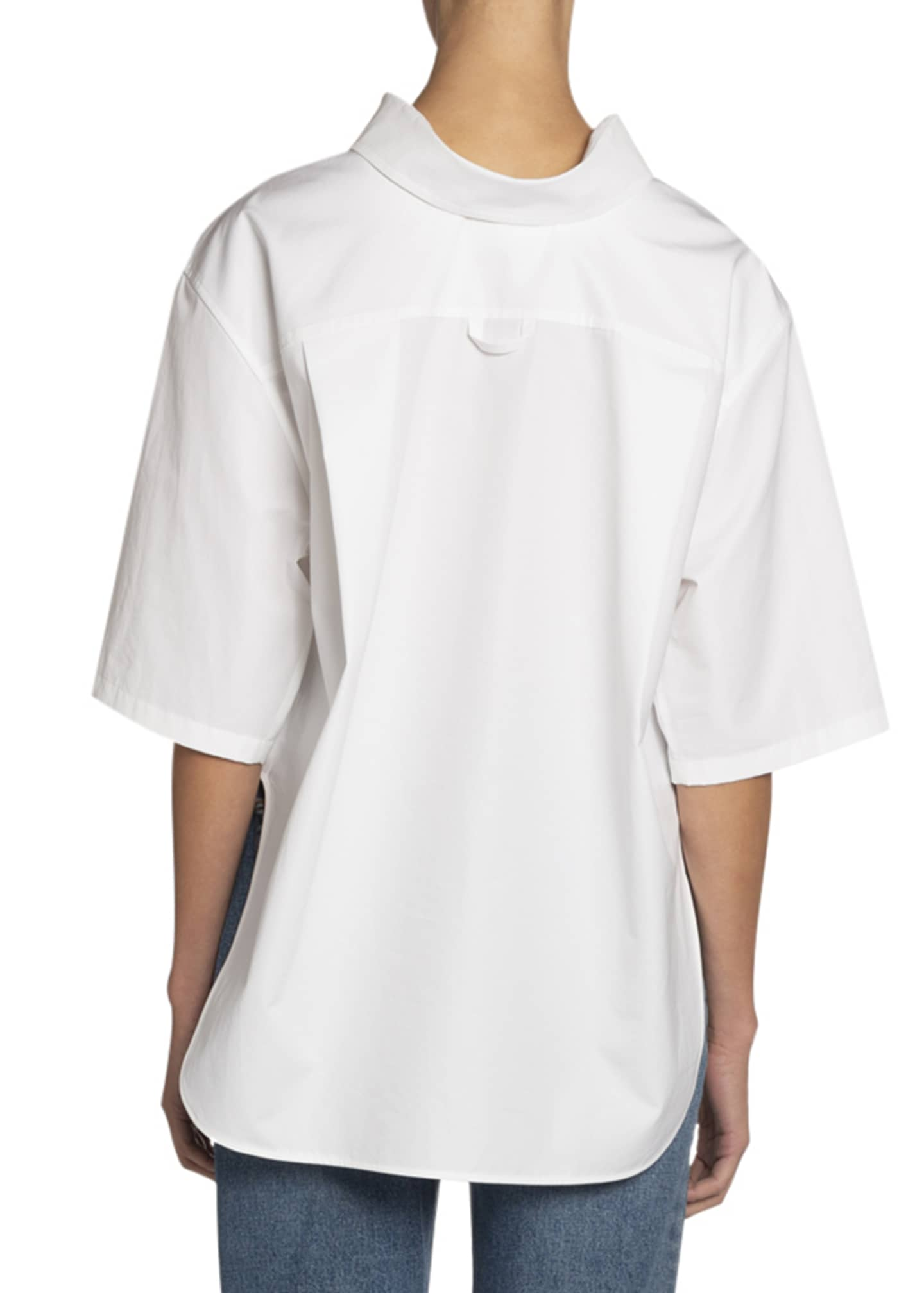 Image 2 of 2: Button-Down Short-Sleeve Swing Shirt