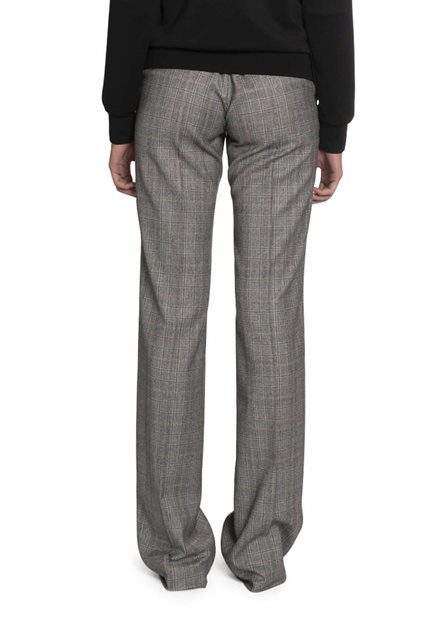 Image 2 of 2: Checked Wool High-Rise Pants