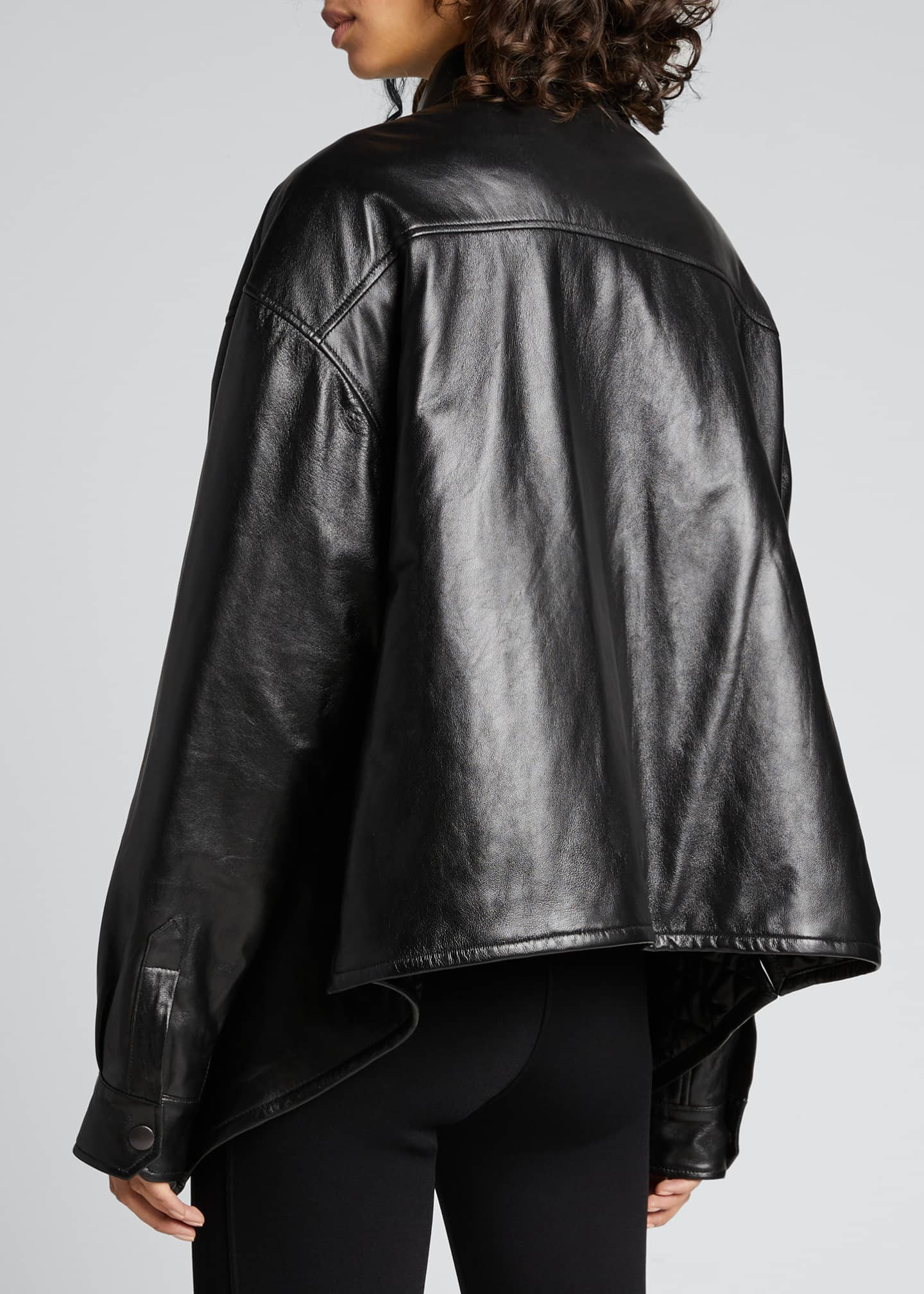 Image 2 of 5: Leather Swing Shirt