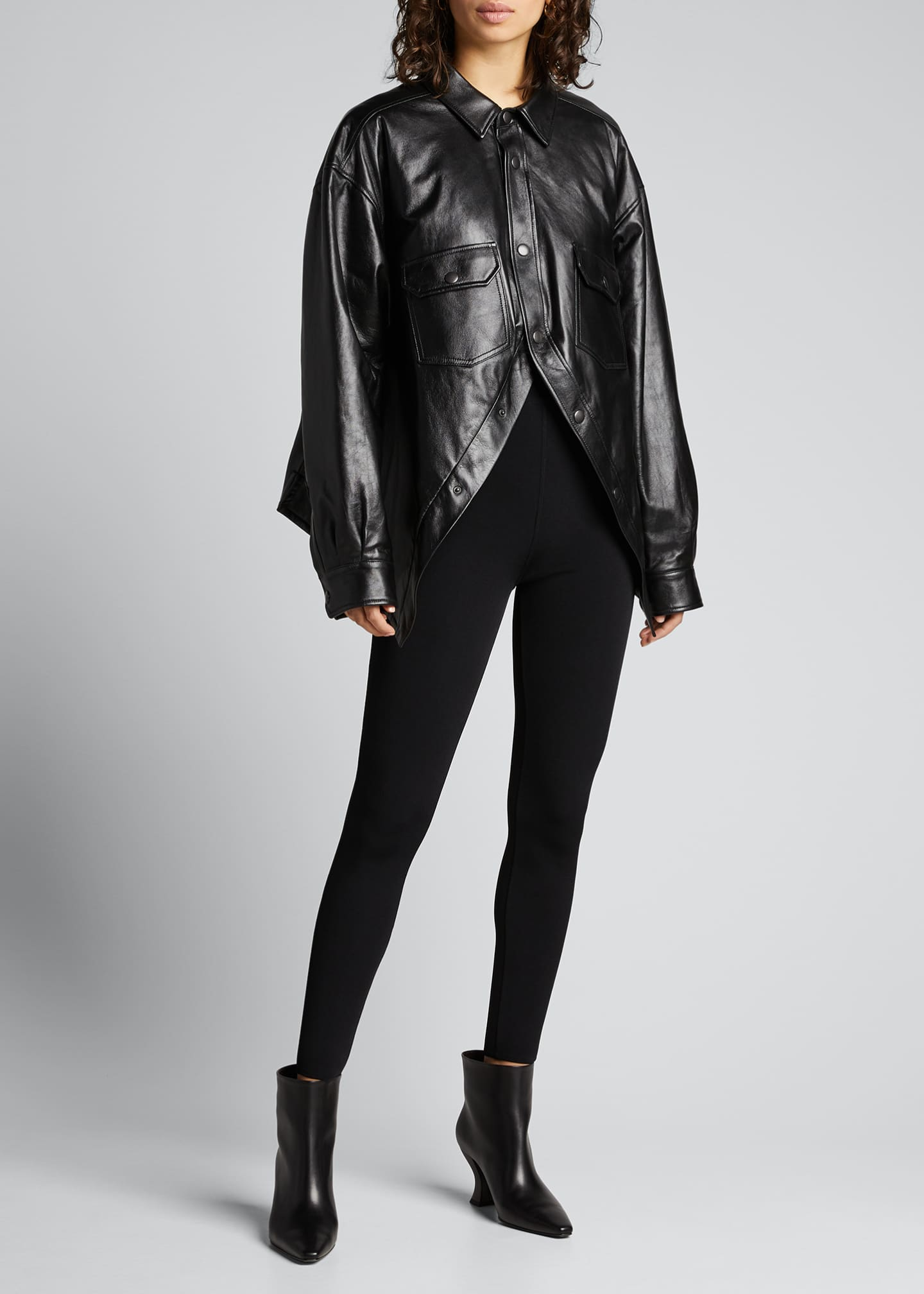 Image 1 of 5: Leather Swing Shirt
