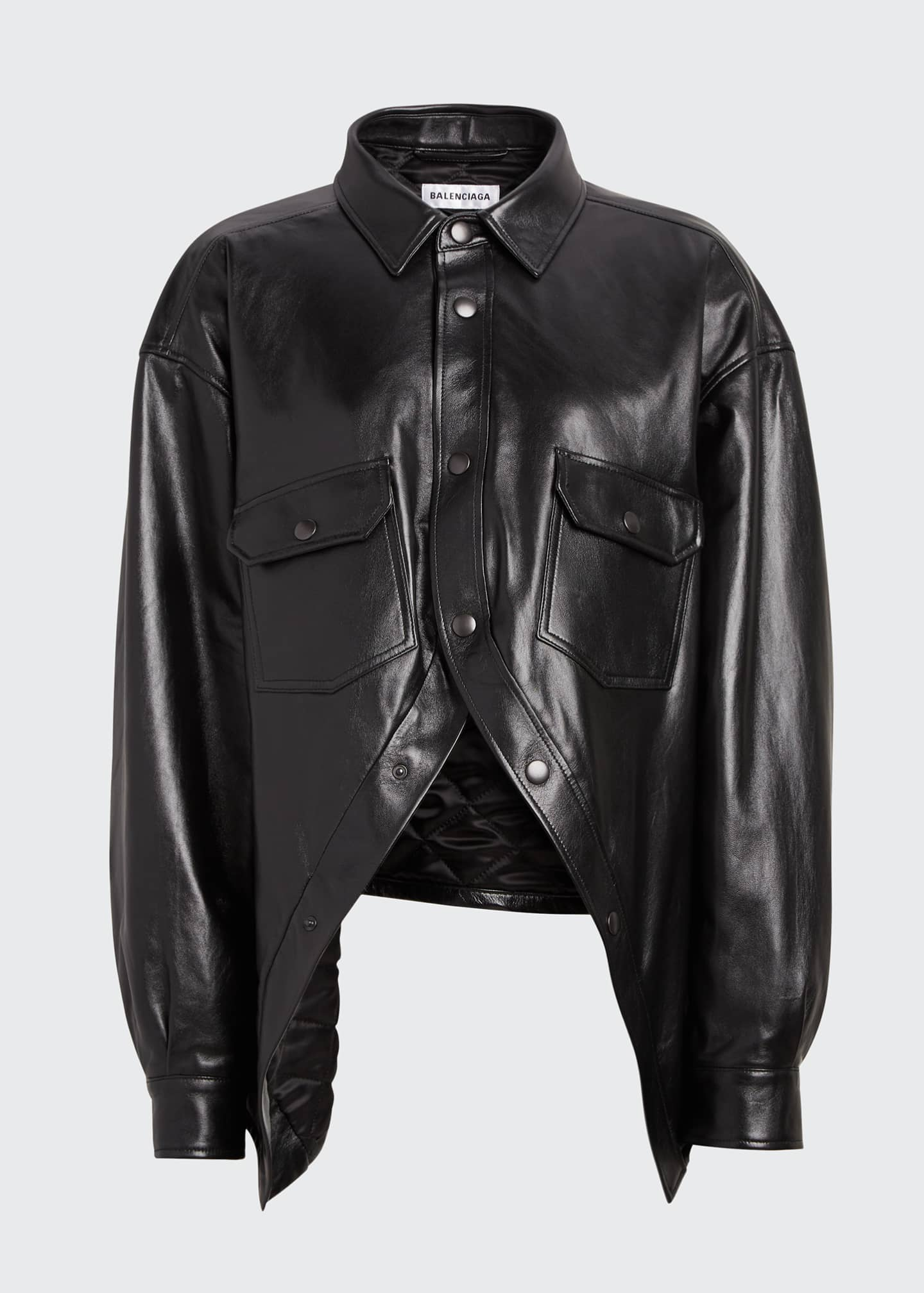Image 5 of 5: Leather Swing Shirt