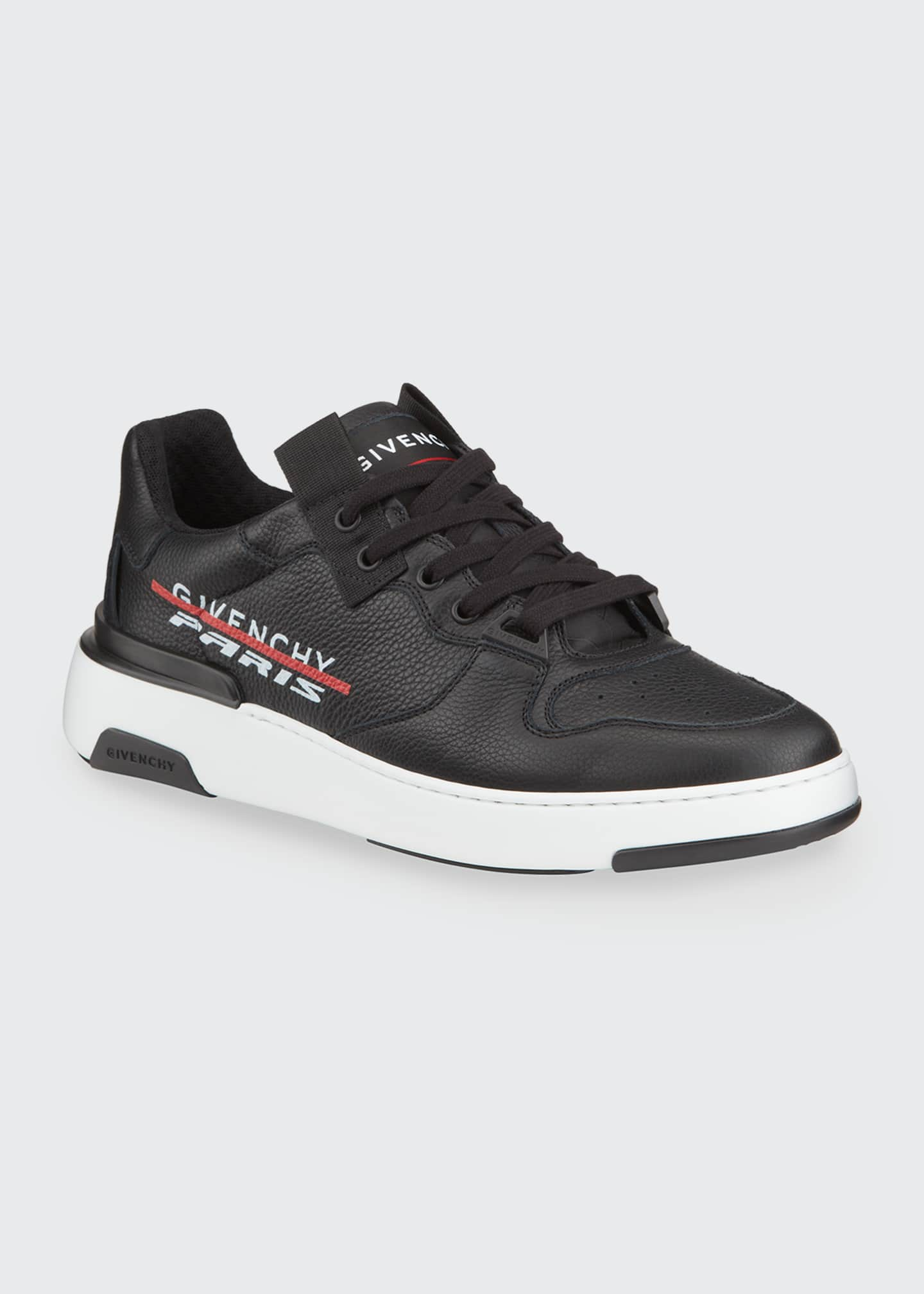 Image 2 of 4: Men's Wing Leather Low-Top Sneakers