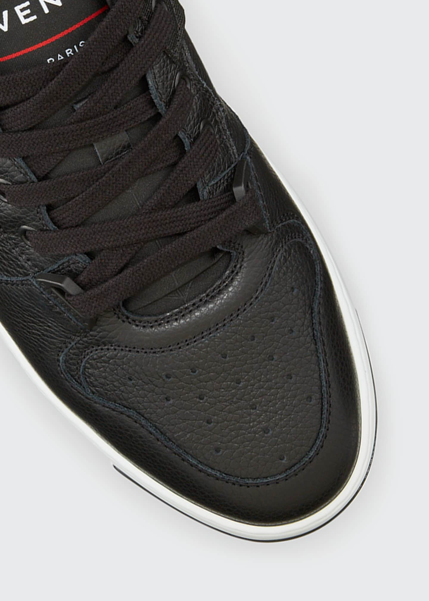 Image 4 of 4: Men's Wing Leather Low-Top Sneakers