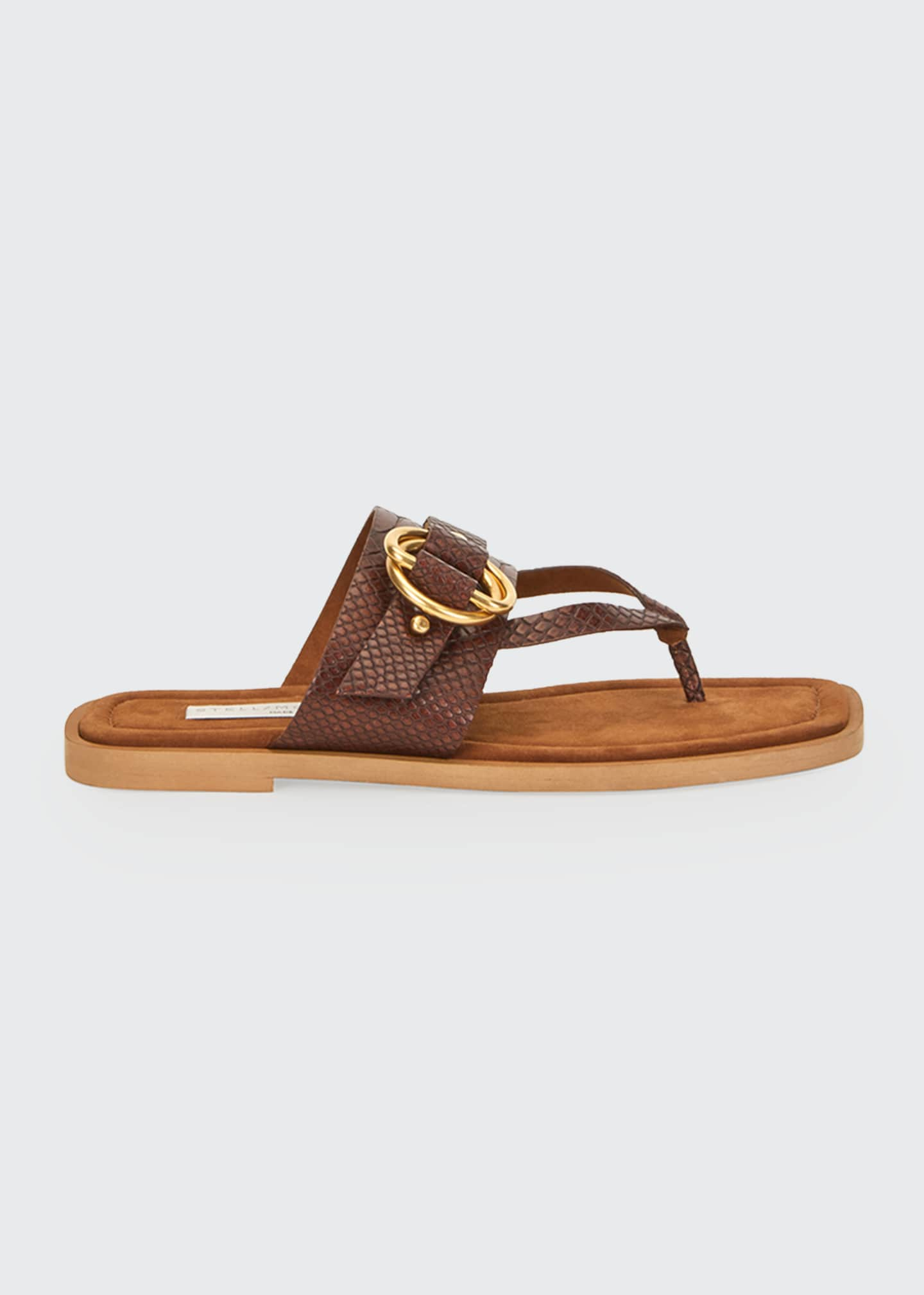 Image 1 of 4: Flat Exotic-Print Sandals