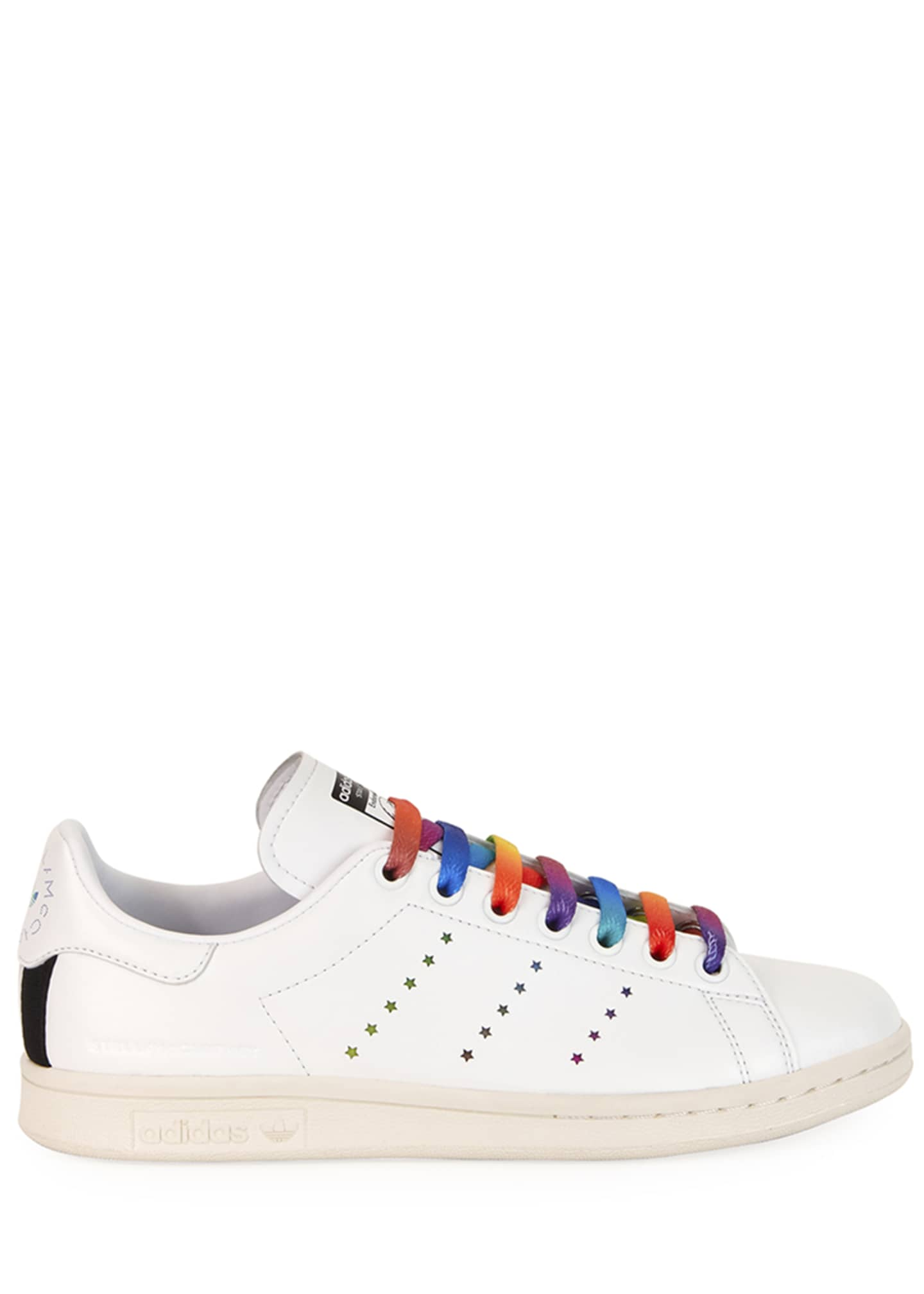 Image 2 of 3: Stan Smith Sneakers with Rainbow Laces
