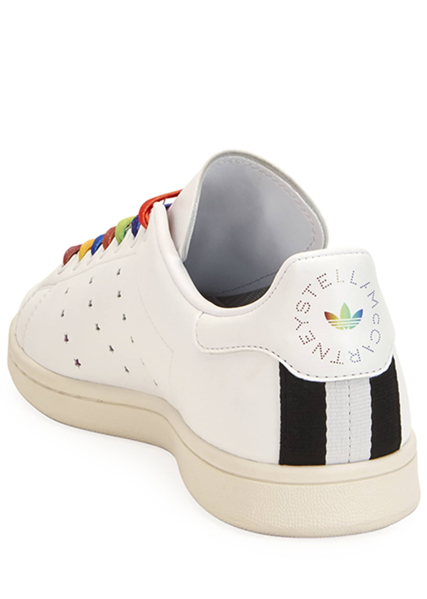 Image 3 of 3: Stan Smith Sneakers with Rainbow Laces