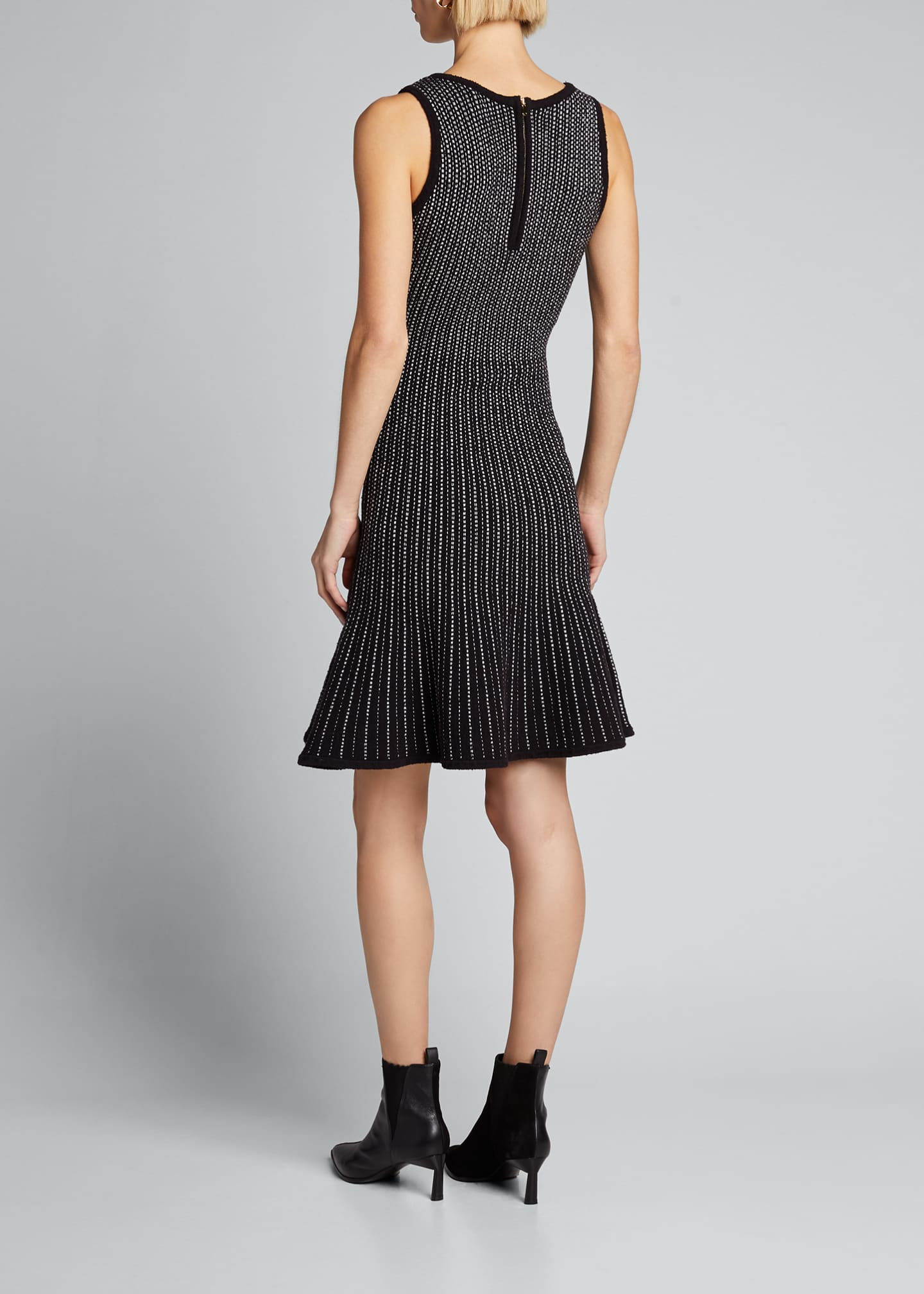 Image 2 of 5: Tweed Sleeveless Fit & Flow Dress