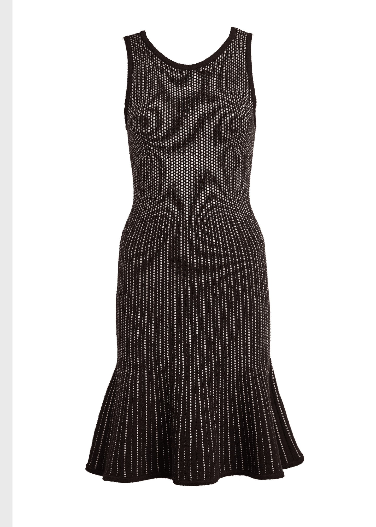 Image 5 of 5: Tweed Sleeveless Fit & Flow Dress