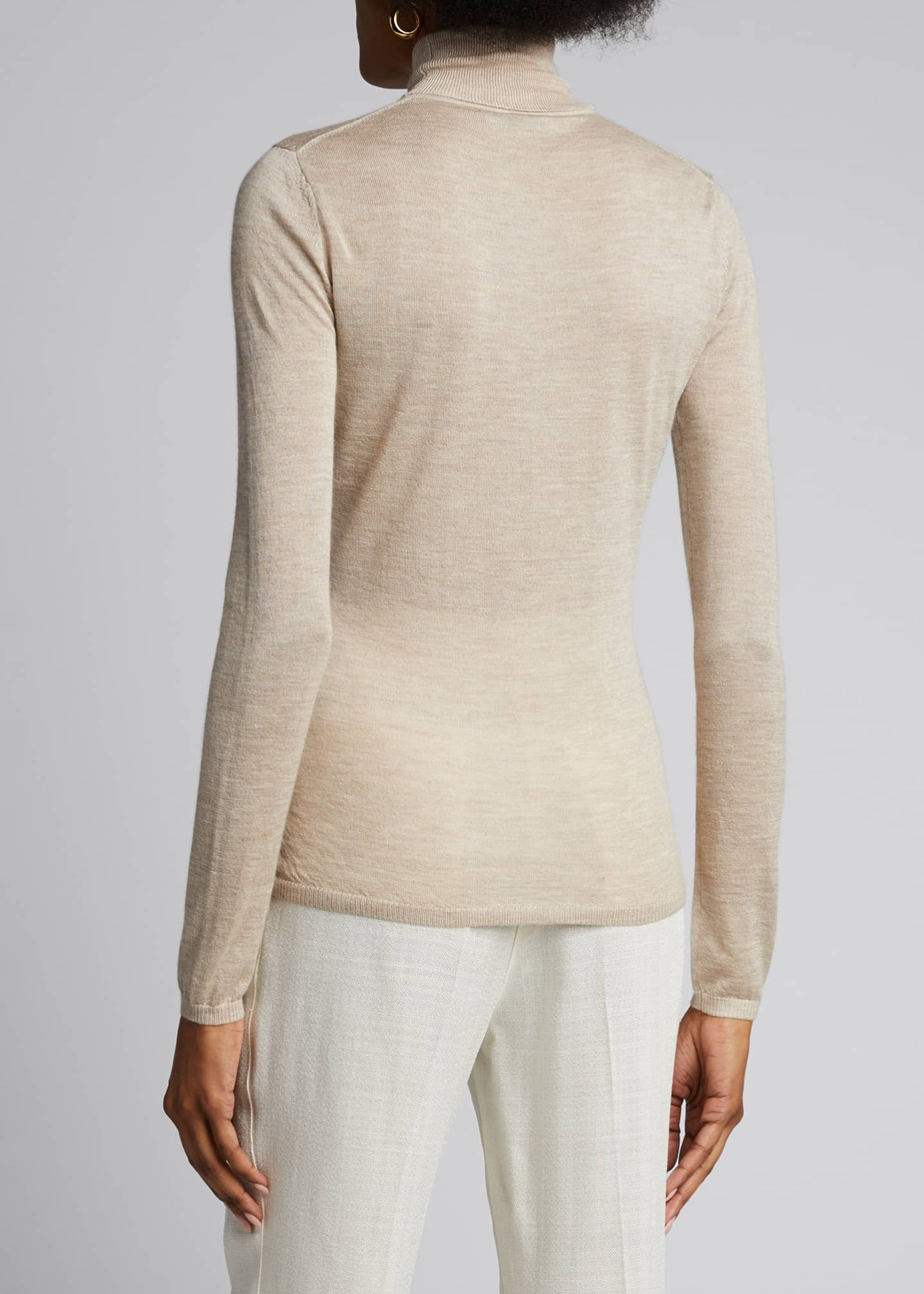 Image 2 of 5: Costa Cashmere-Silk Turtleneck Sweater