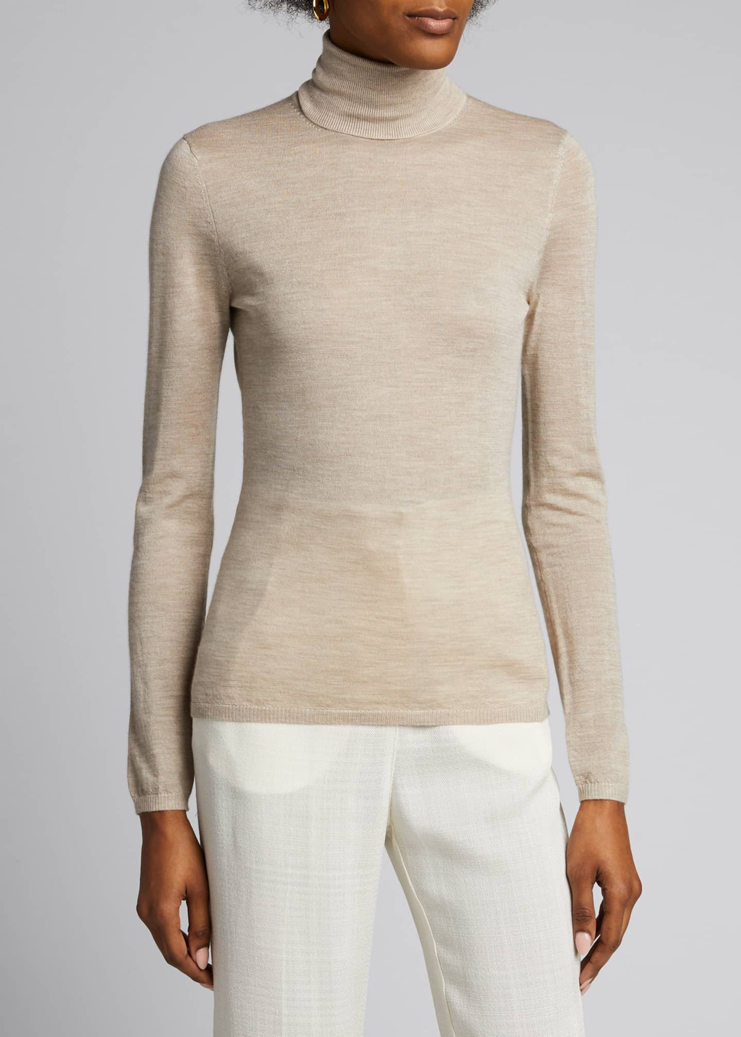 Image 3 of 5: Costa Cashmere-Silk Turtleneck Sweater