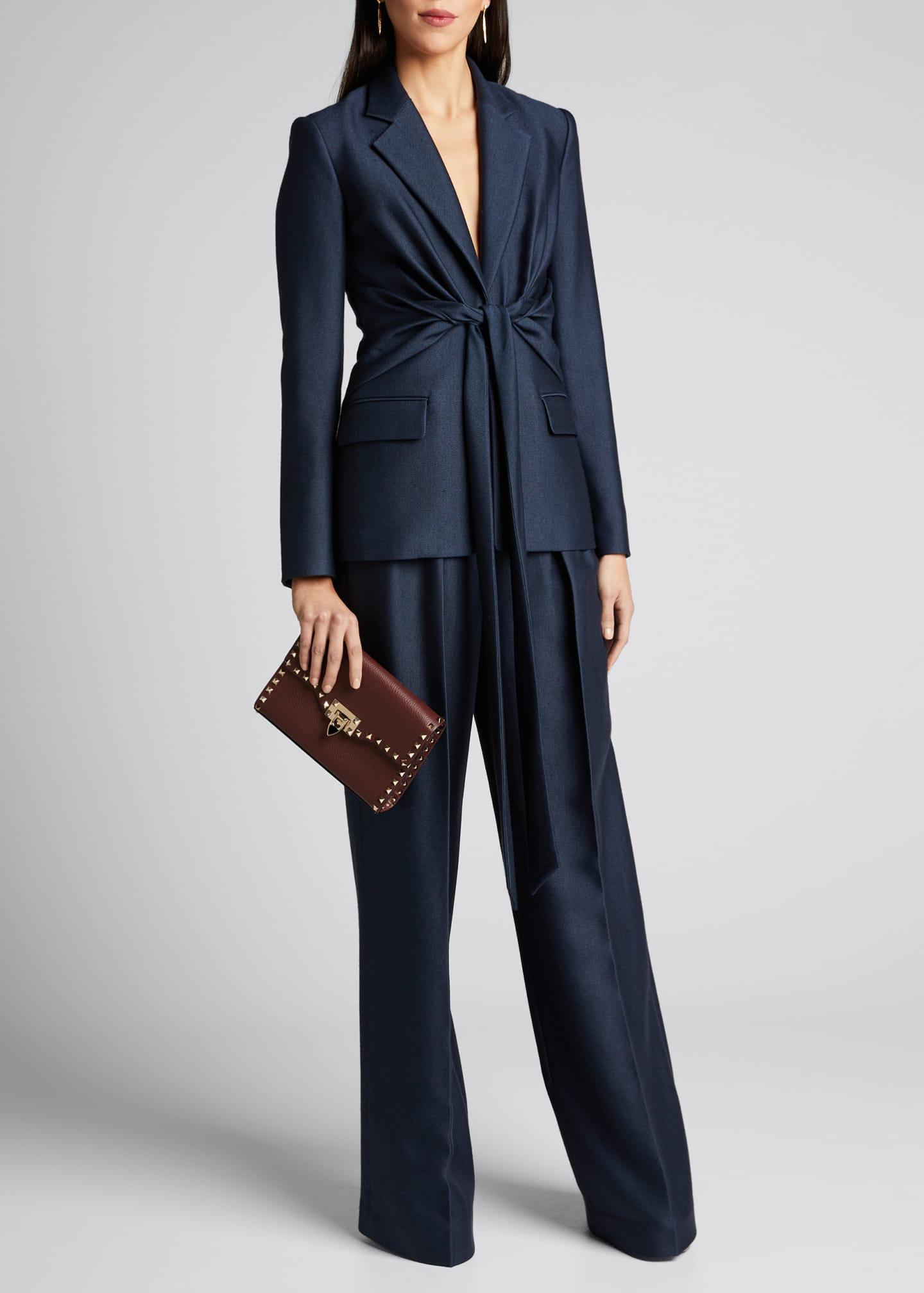 Gabriela Hearst Grant Knotted Wool-Silk Blazer