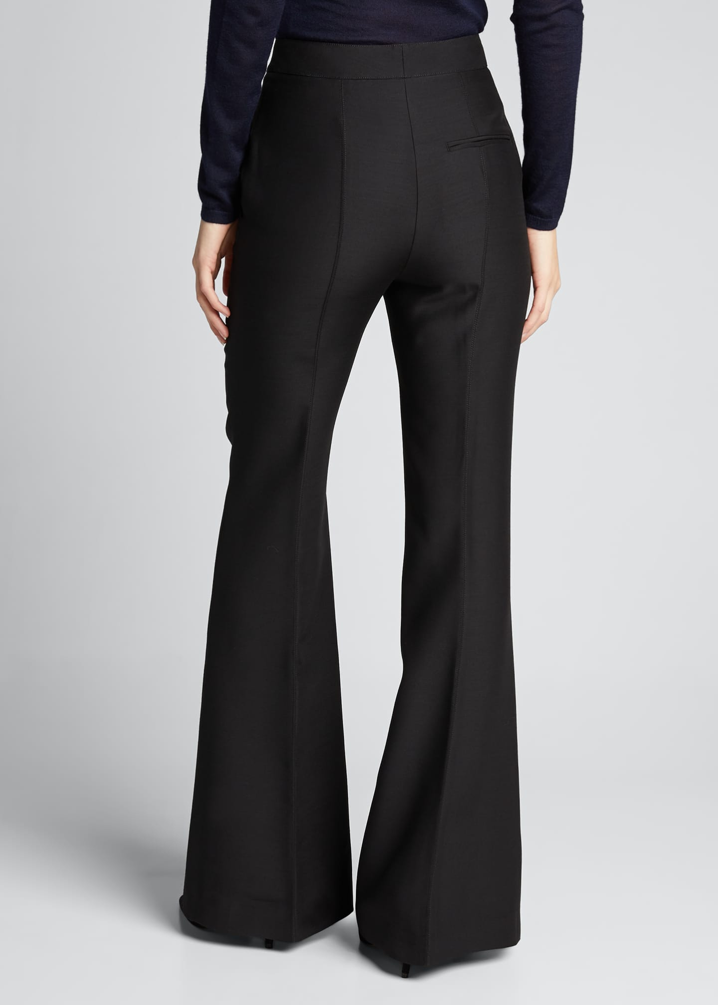 Image 2 of 5: Leda Suiting Flare-Leg Pants