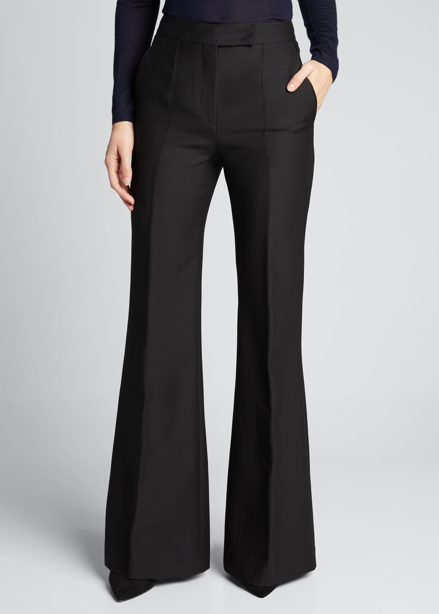 Image 3 of 5: Leda Suiting Flare-Leg Pants