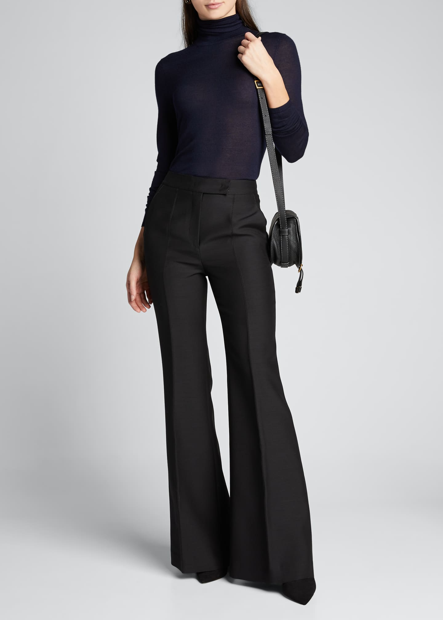 Image 1 of 5: Leda Suiting Flare-Leg Pants