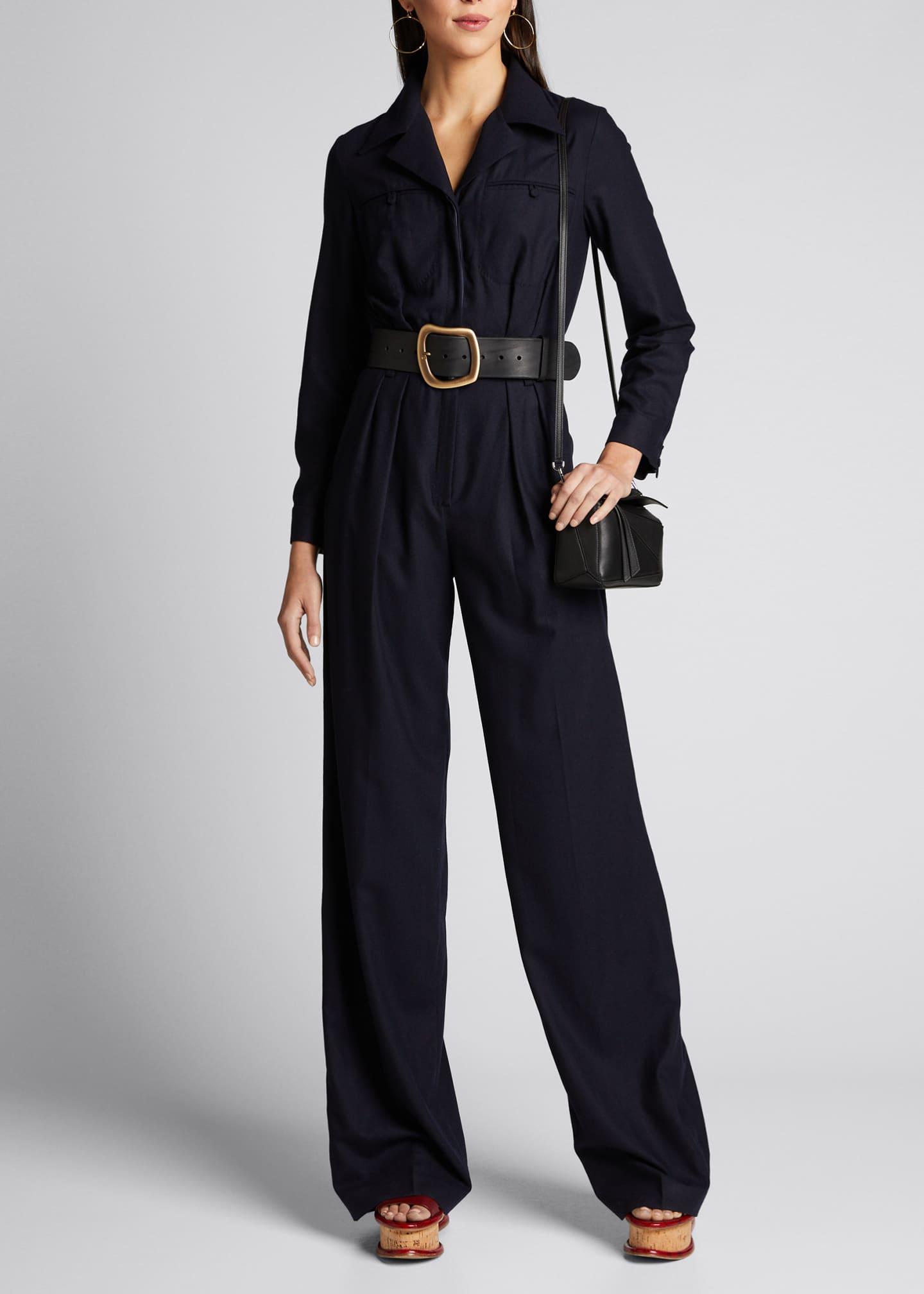 Gabriela Hearst Well Silk-Cashmere Jumpsuit