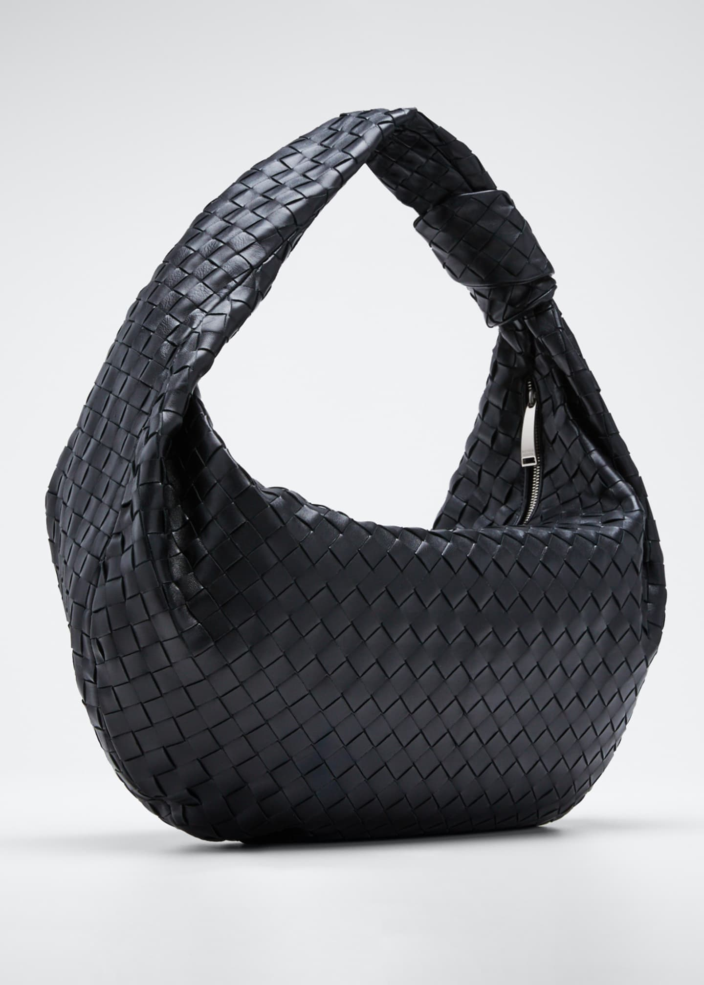 Image 3 of 5: Intrecciato Woven Leather Large Hobo Bag