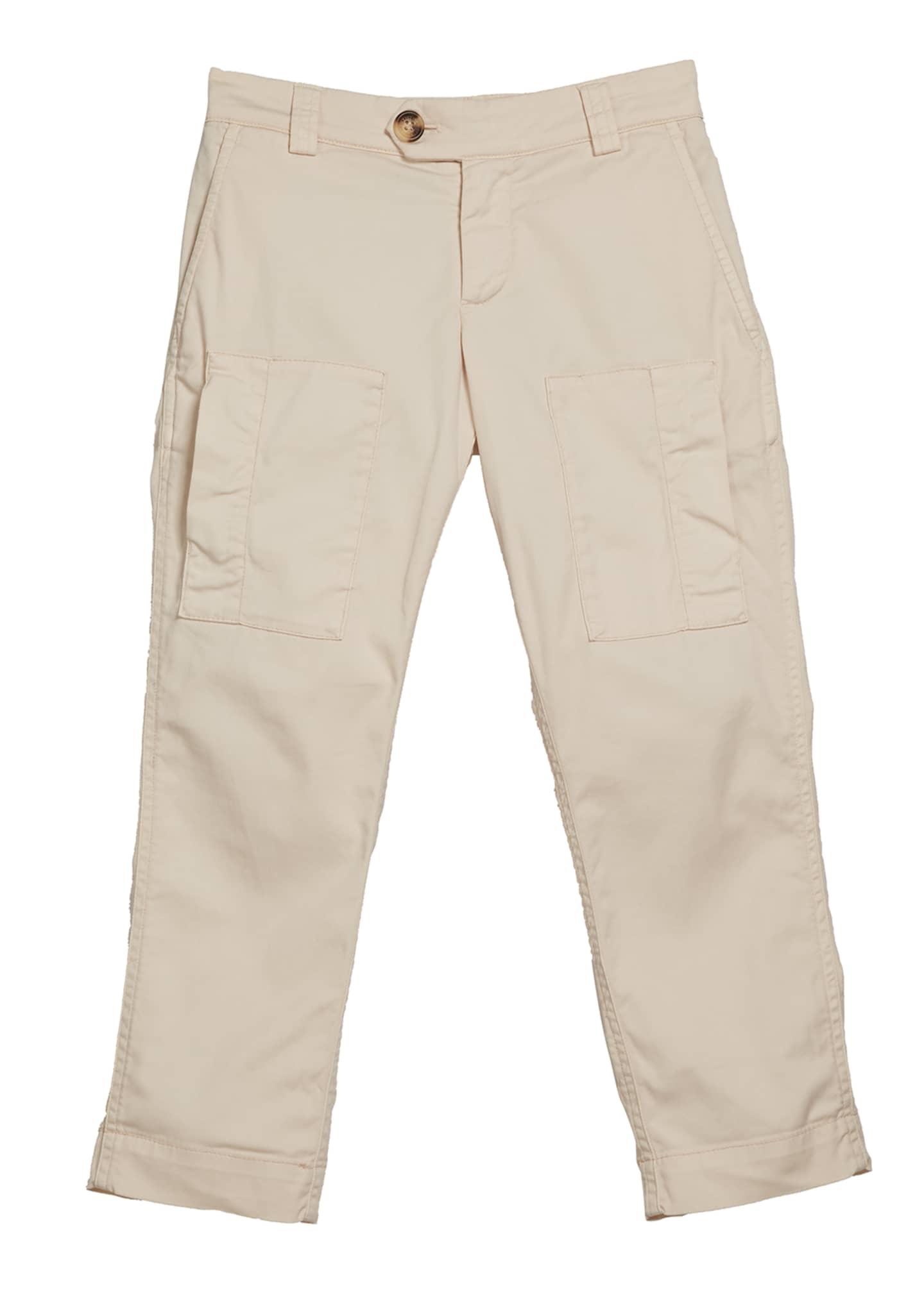 Brunello Cucinelli Boy's Cotton Cargo Pants, Size 8-10