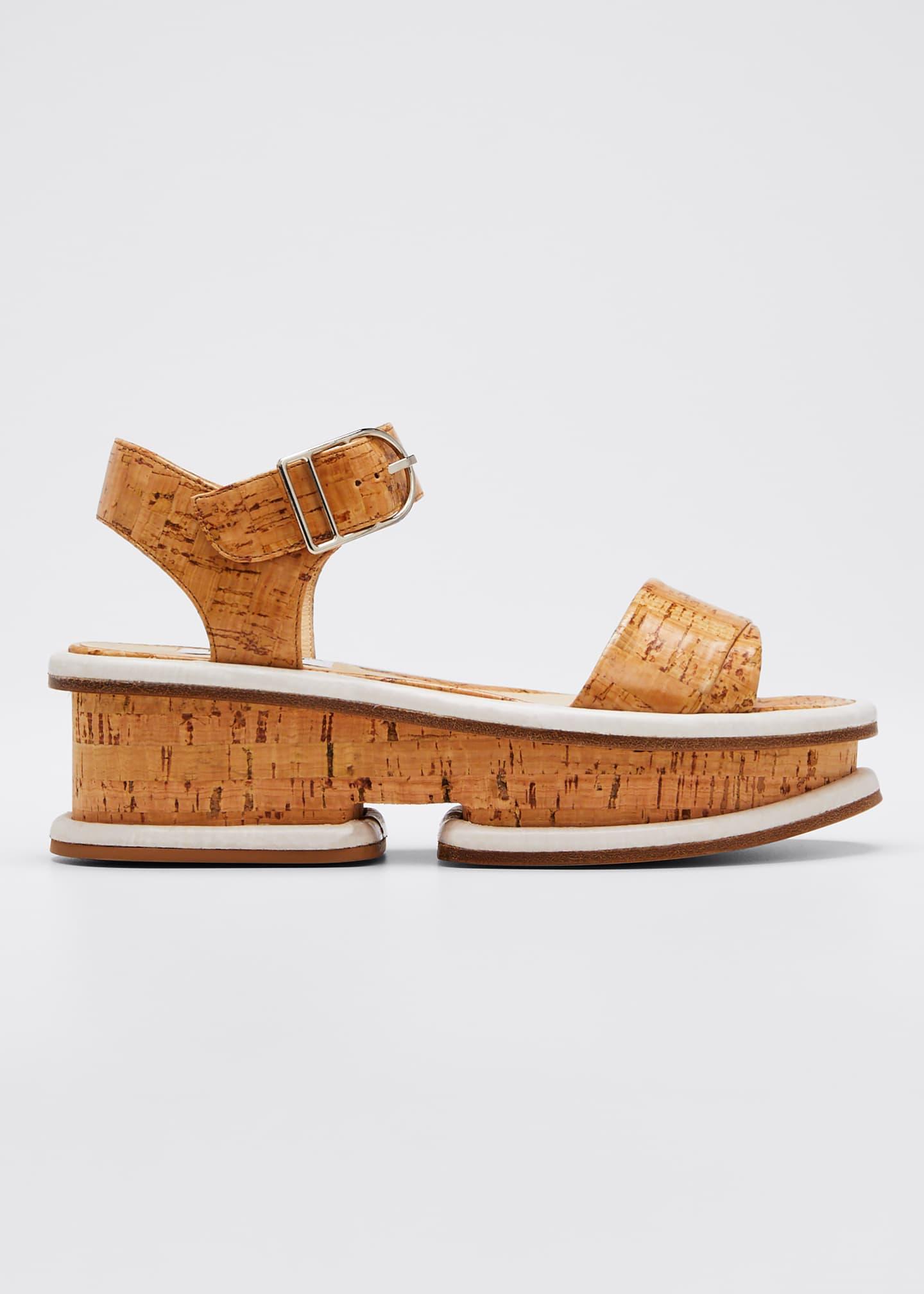 Gabriela Hearst Bradley Platform Cork Sandals