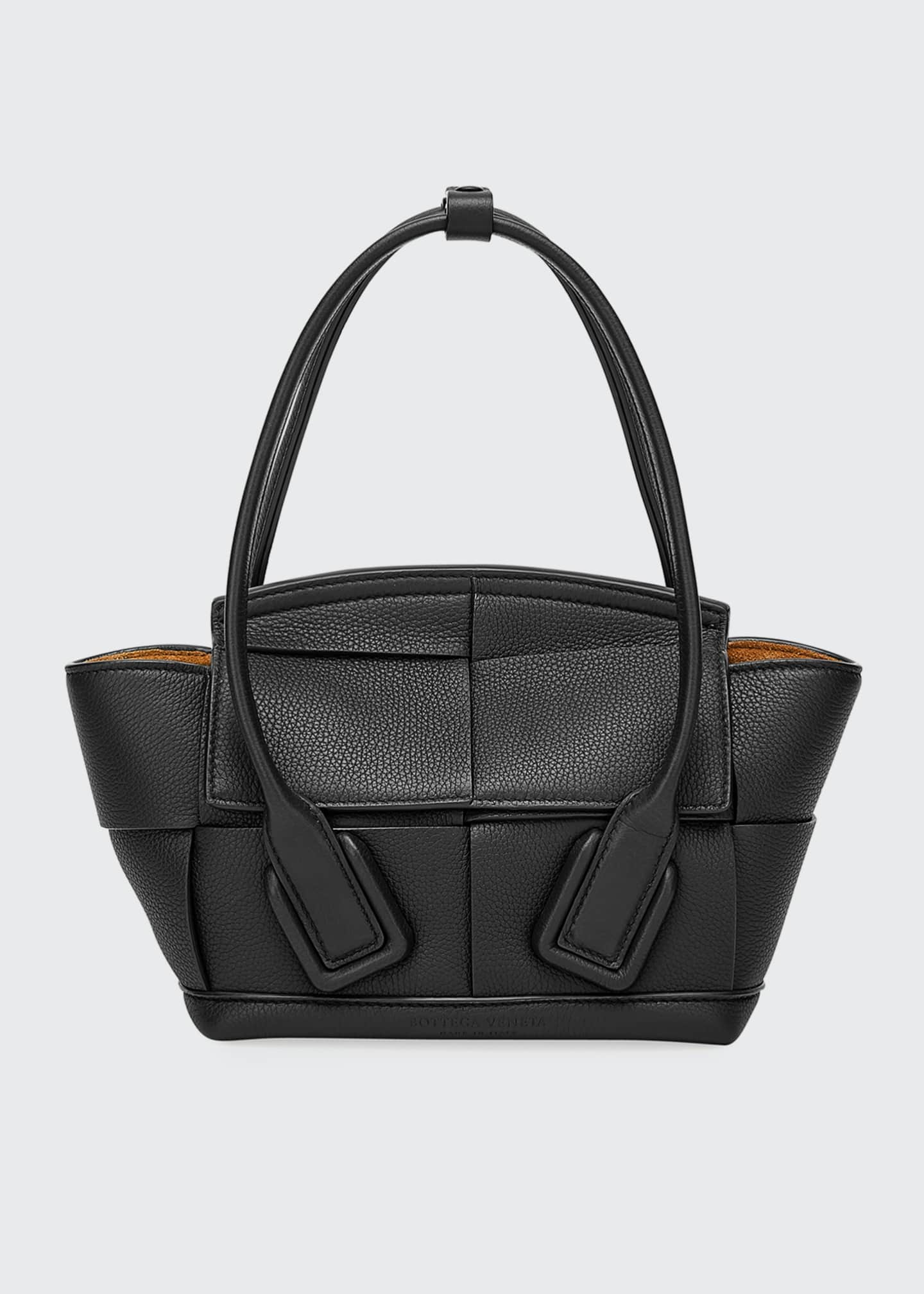 Bottega Veneta Arco 33 Mini Grainy Leather Top-Handle