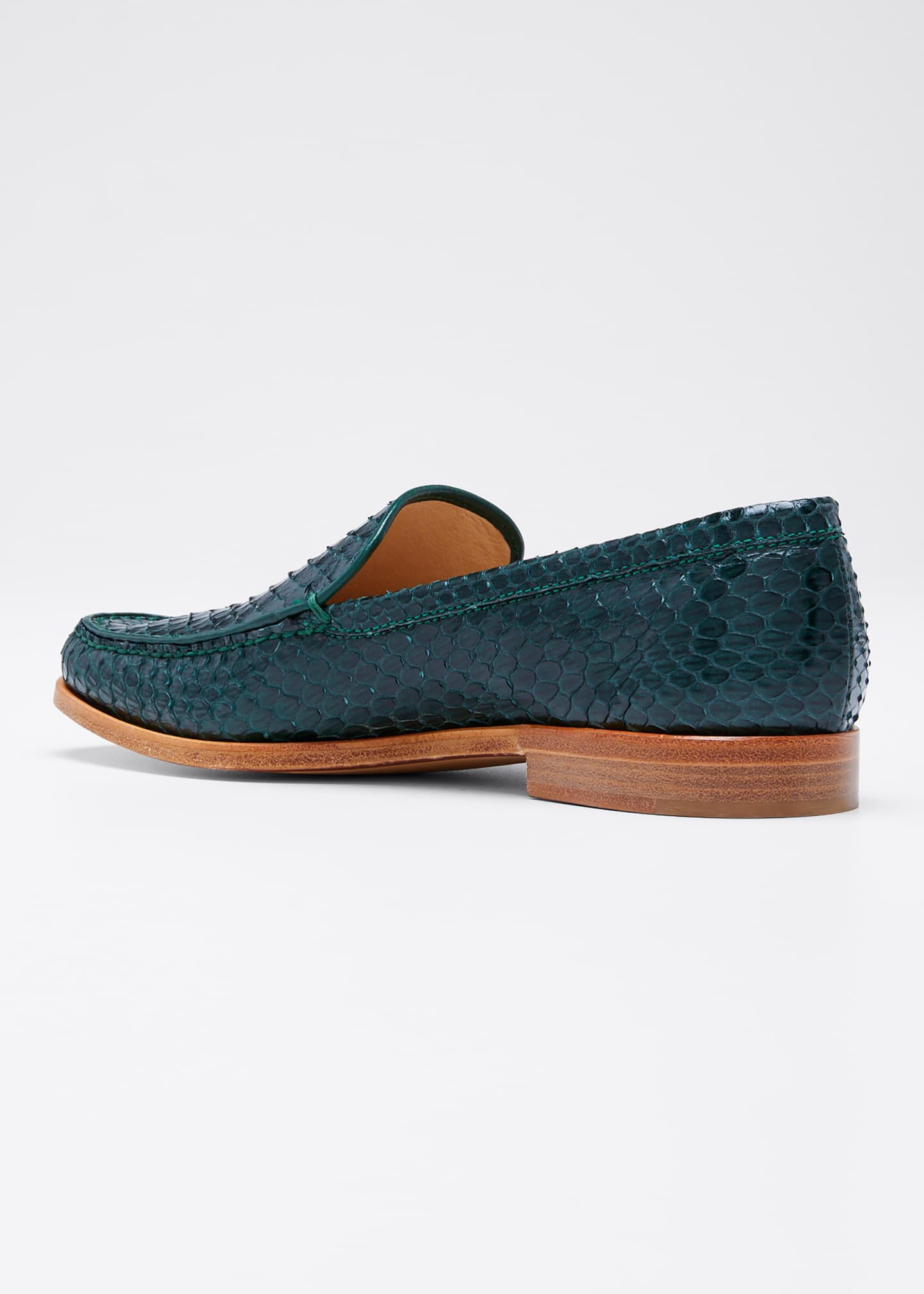 Image 2 of 3: Renault Snakeskin Loafers