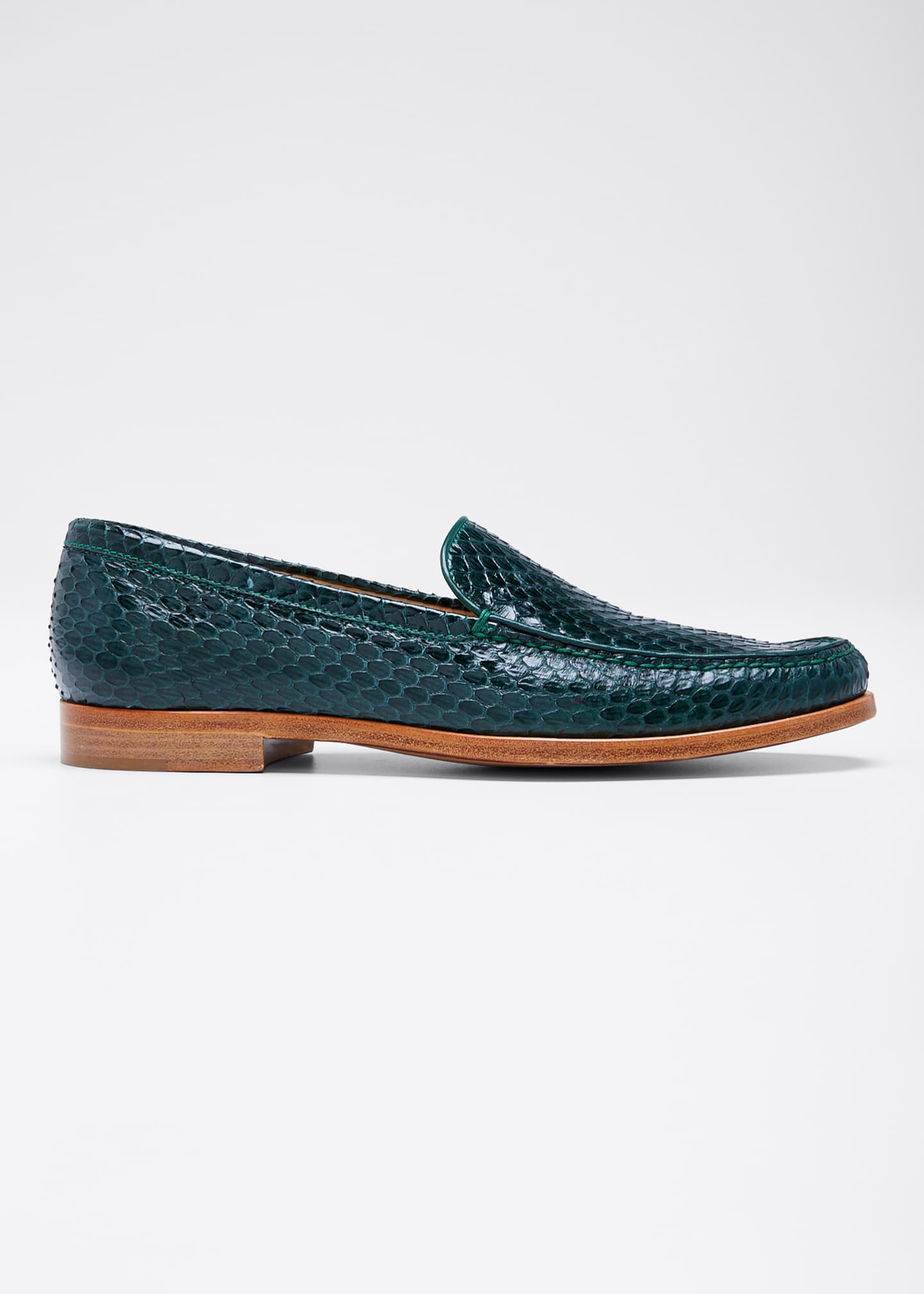 Image 1 of 3: Renault Snakeskin Loafers