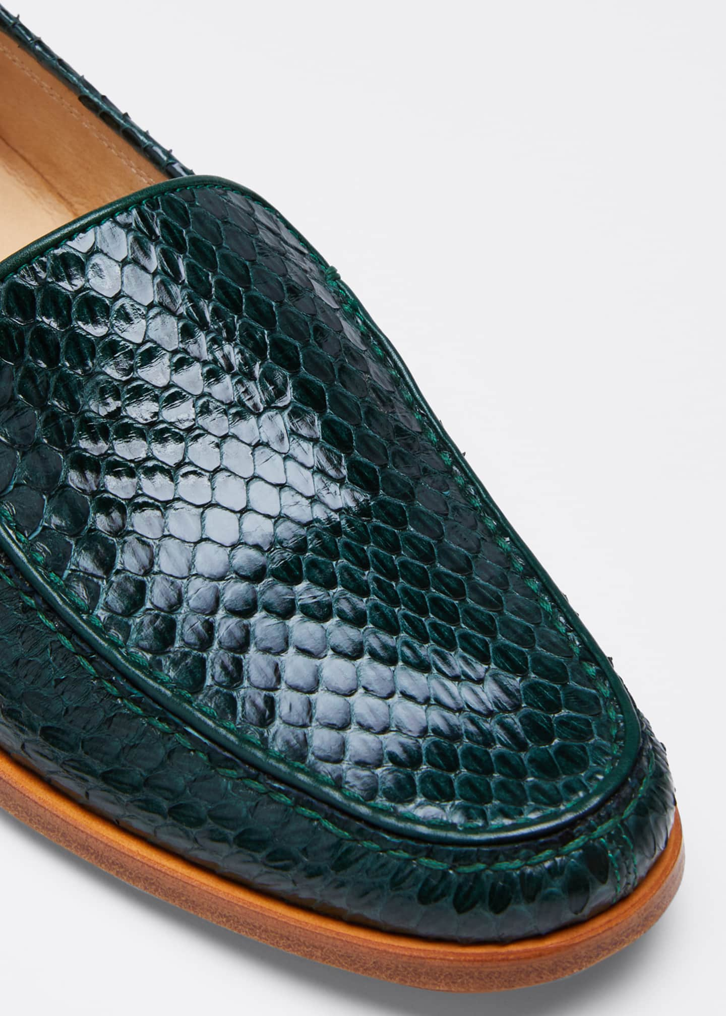 Image 3 of 3: Renault Snakeskin Loafers