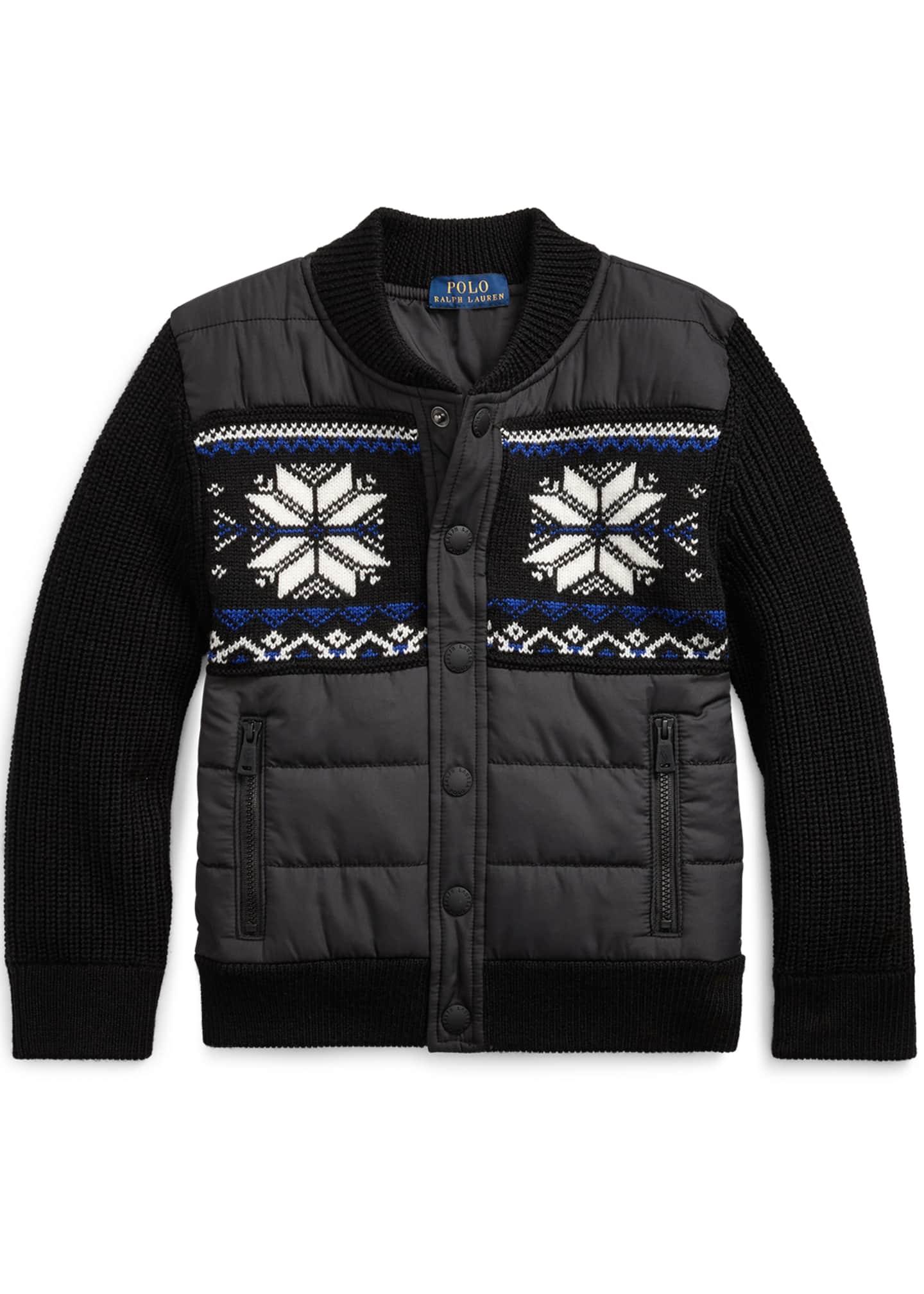 Ralph Lauren Childrenswear Boy's Merino Wool Hybrid Sweater