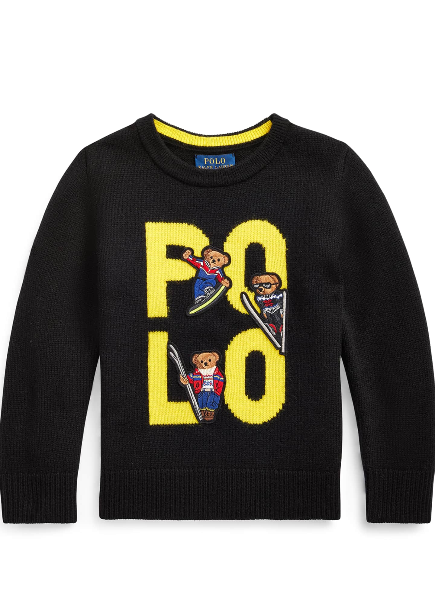 Ralph Lauren Childrenswear Boy's Merino Wool Logo Sweater,
