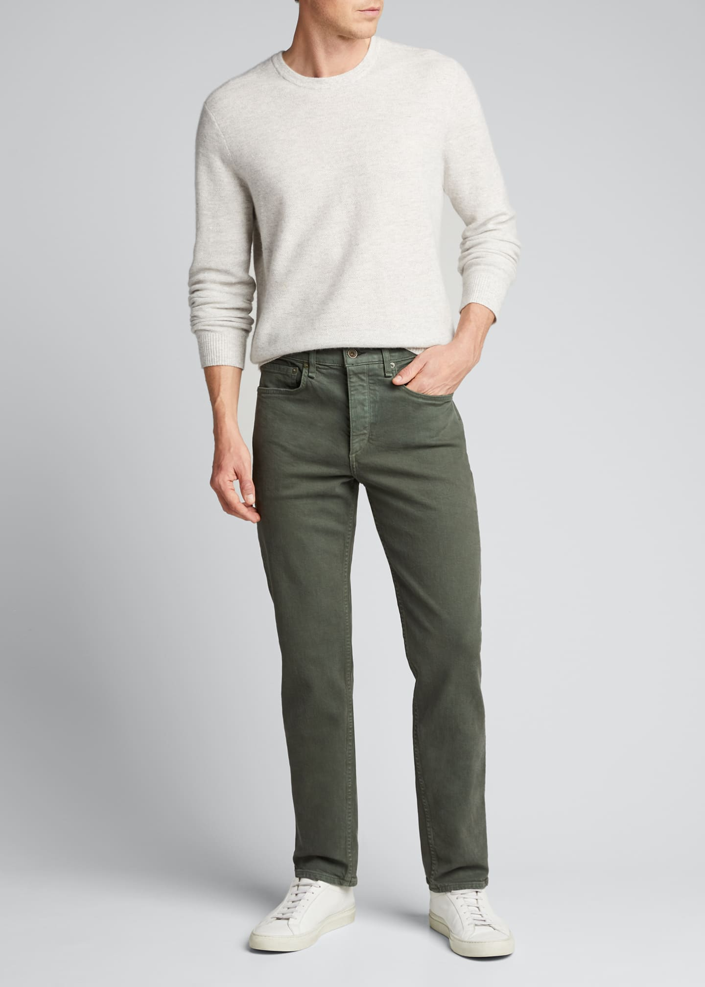 Image 1 of 5: Men's Fit 2 Mid-Rise Relaxed Slim-Fit Jeans