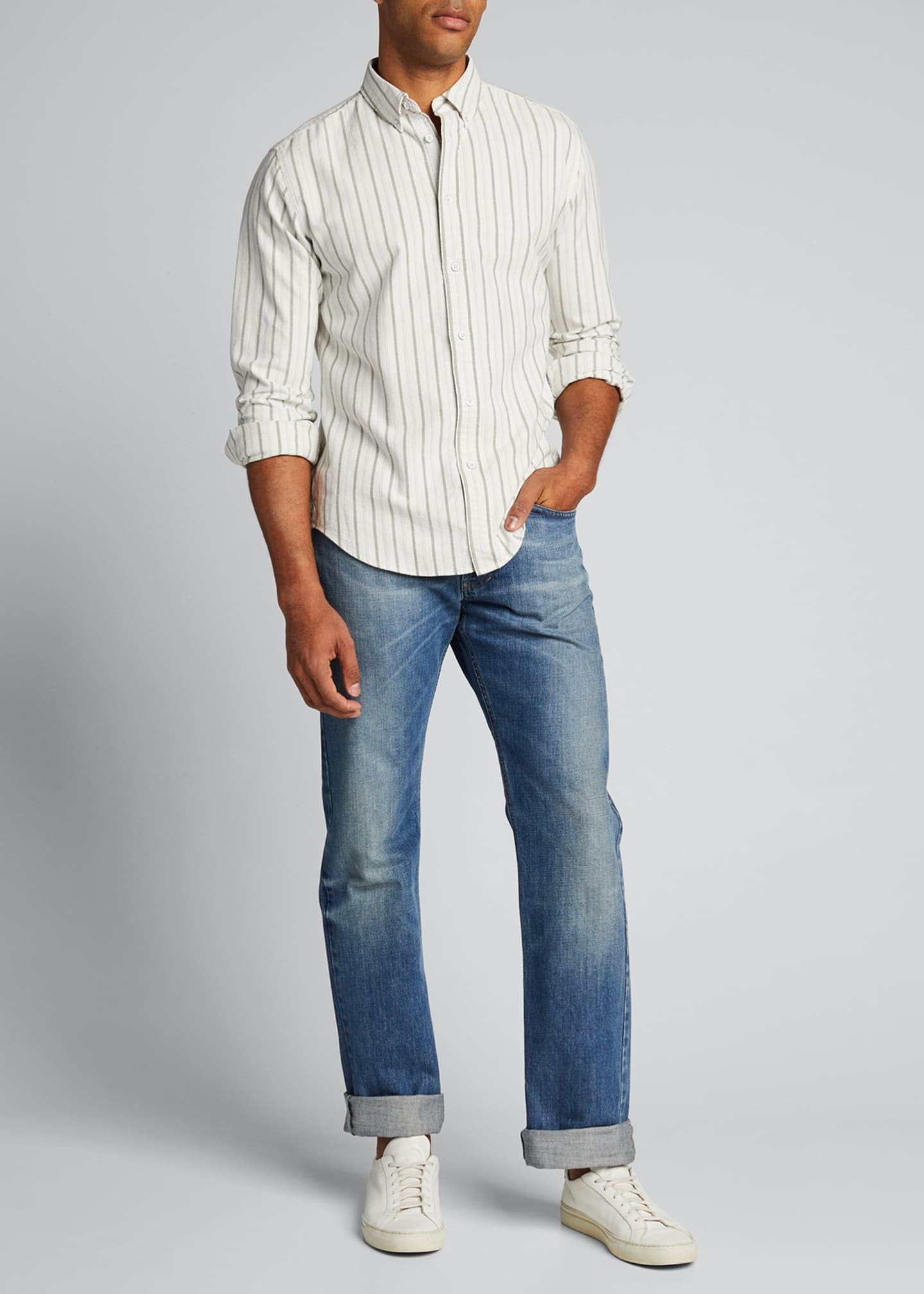 Image 1 of 5: Men's Tomlin Striped Oxford Sport Shirt