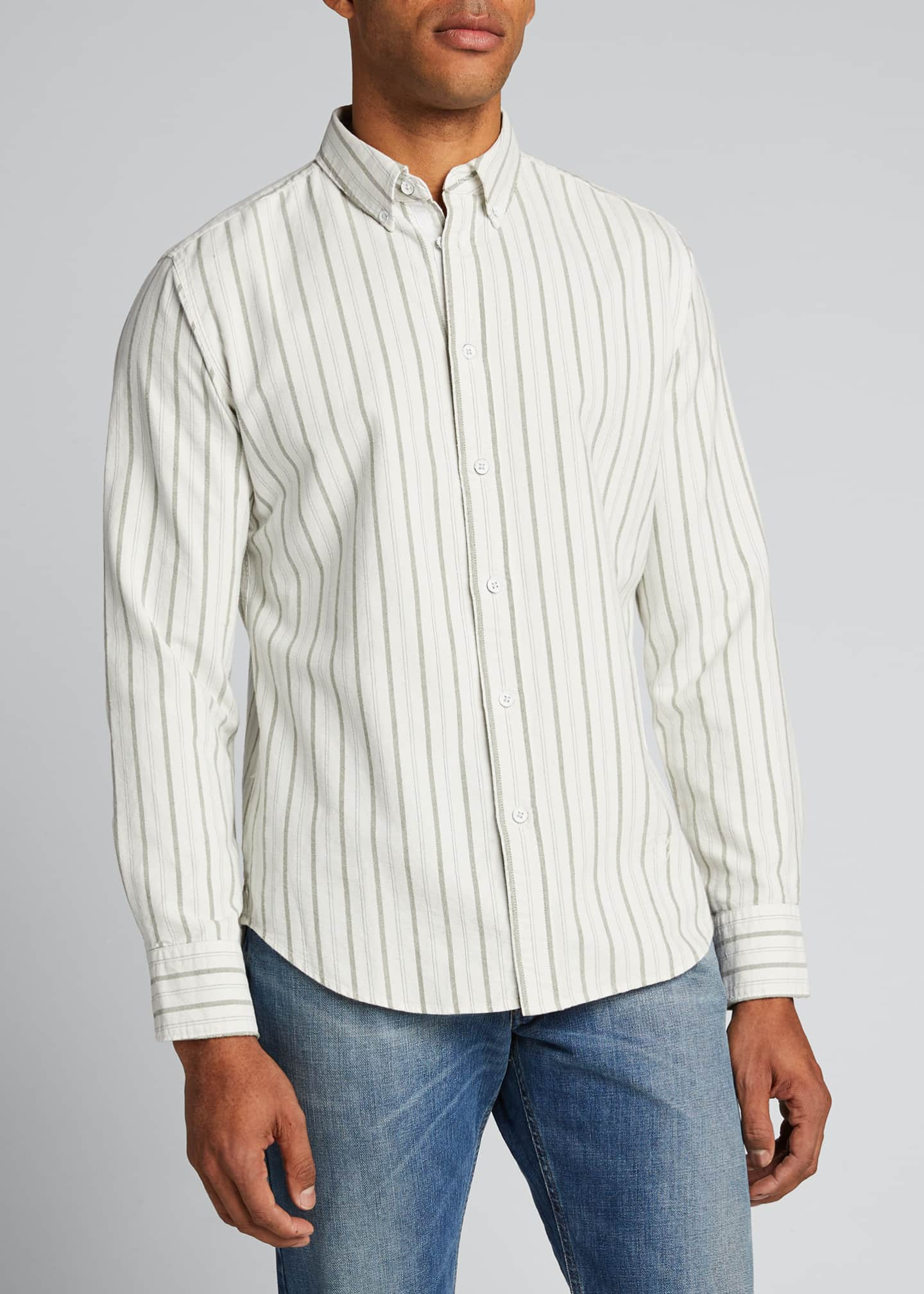 Image 3 of 5: Men's Tomlin Striped Oxford Sport Shirt