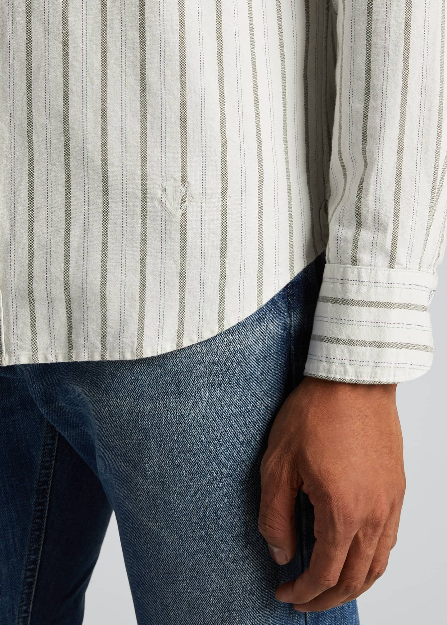 Image 4 of 5: Men's Tomlin Striped Oxford Sport Shirt