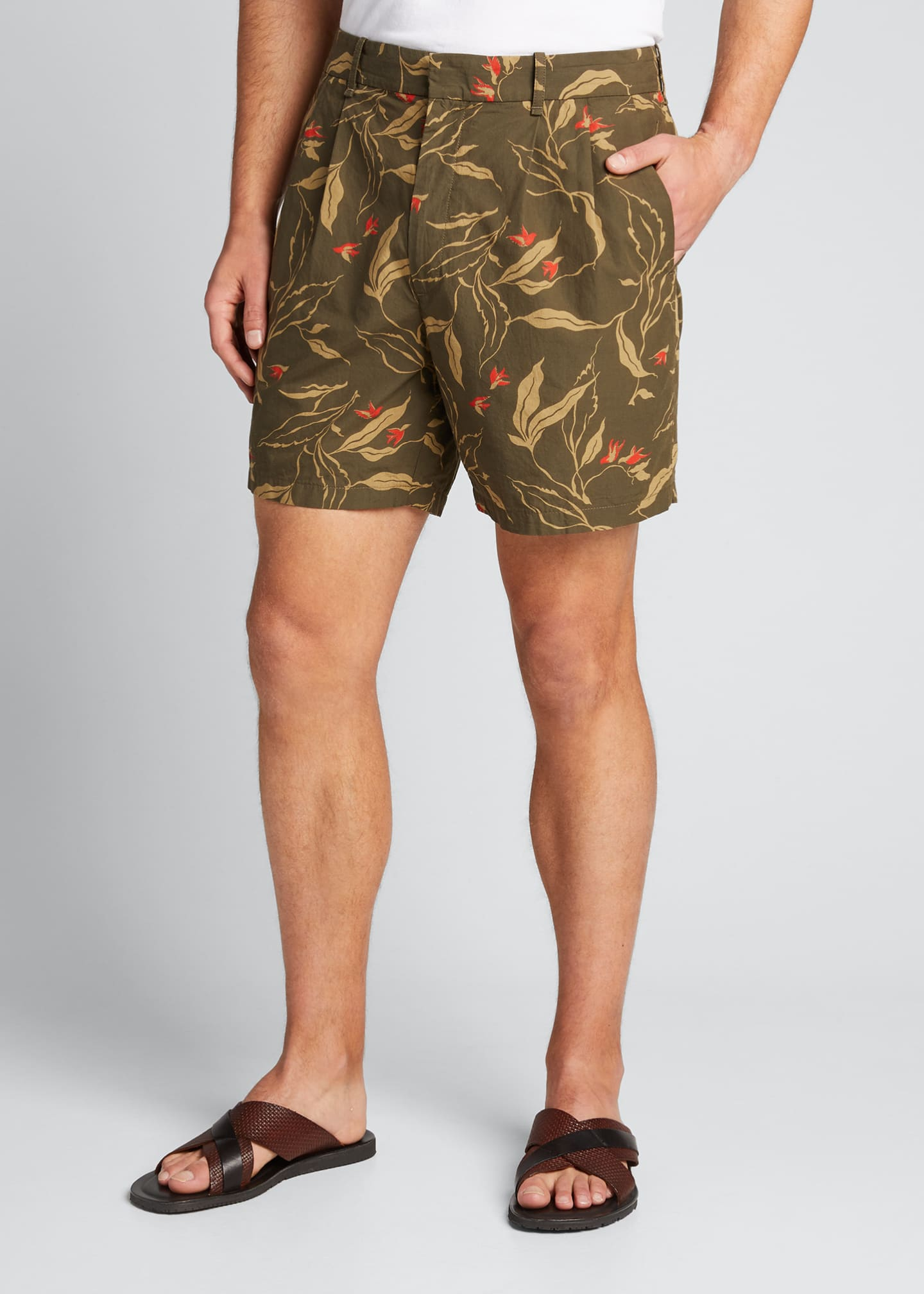 Image 3 of 5: Men's Jackson Floral-Print Shorts