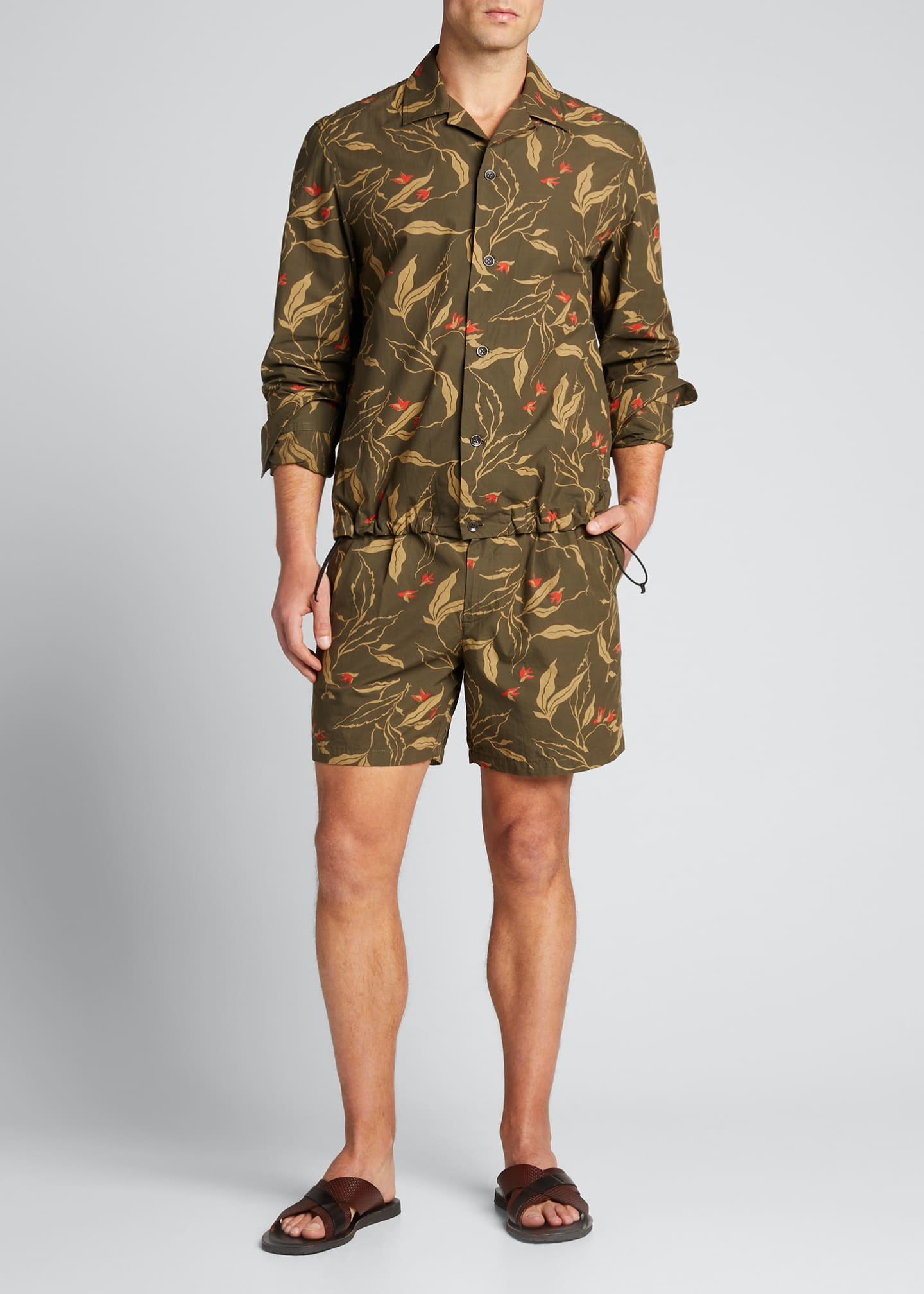 Image 1 of 5: Men's Jackson Floral-Print Shorts