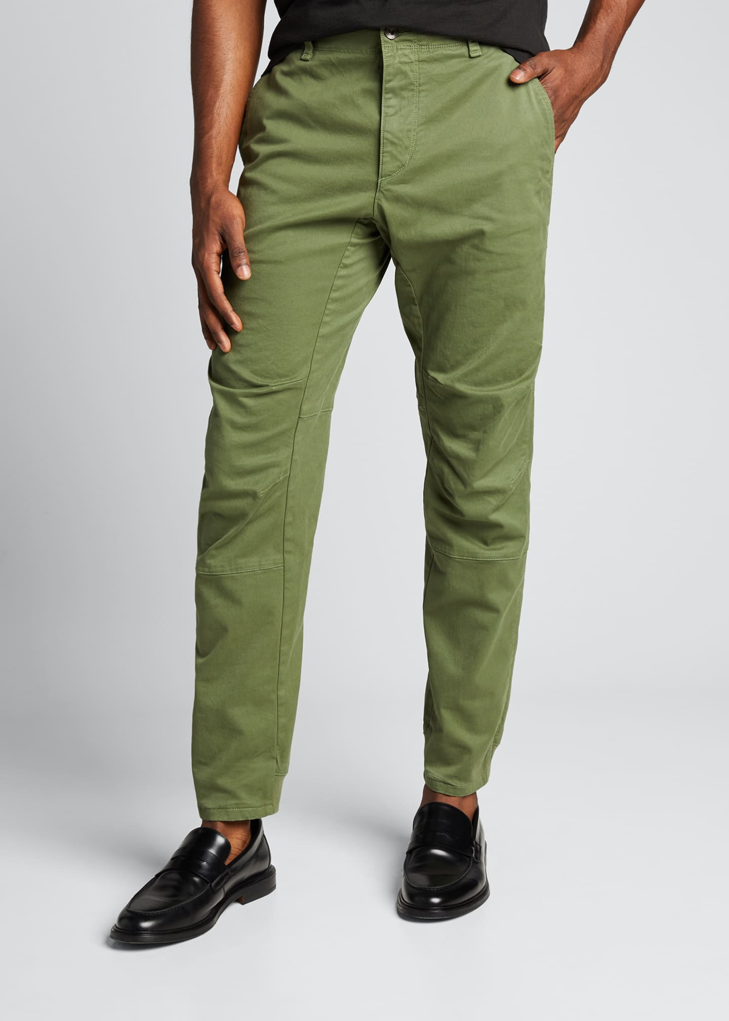 Image 3 of 5: Men's Articulated Stretch-Cotton Chino Pants