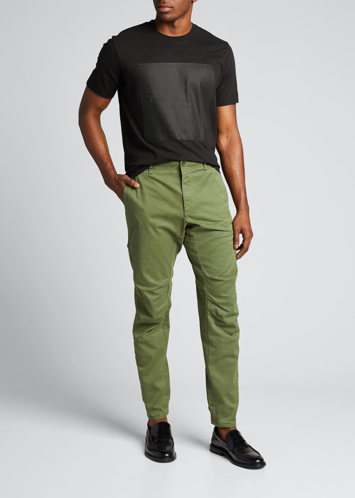 Image 1 of 5: Men's Articulated Stretch-Cotton Chino Pants
