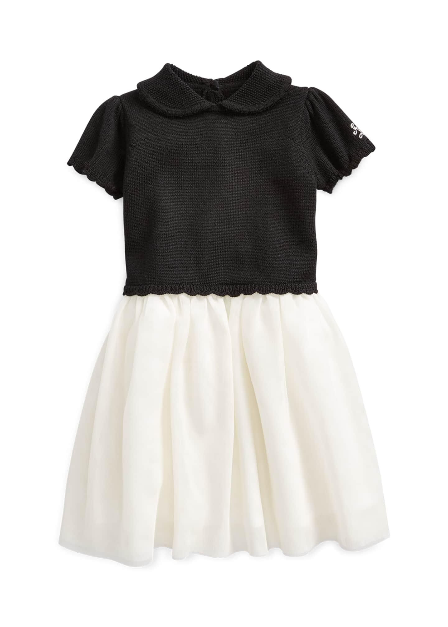Ralph Lauren Childrenswear Girl's Holiday Sweater Tulle Dress,