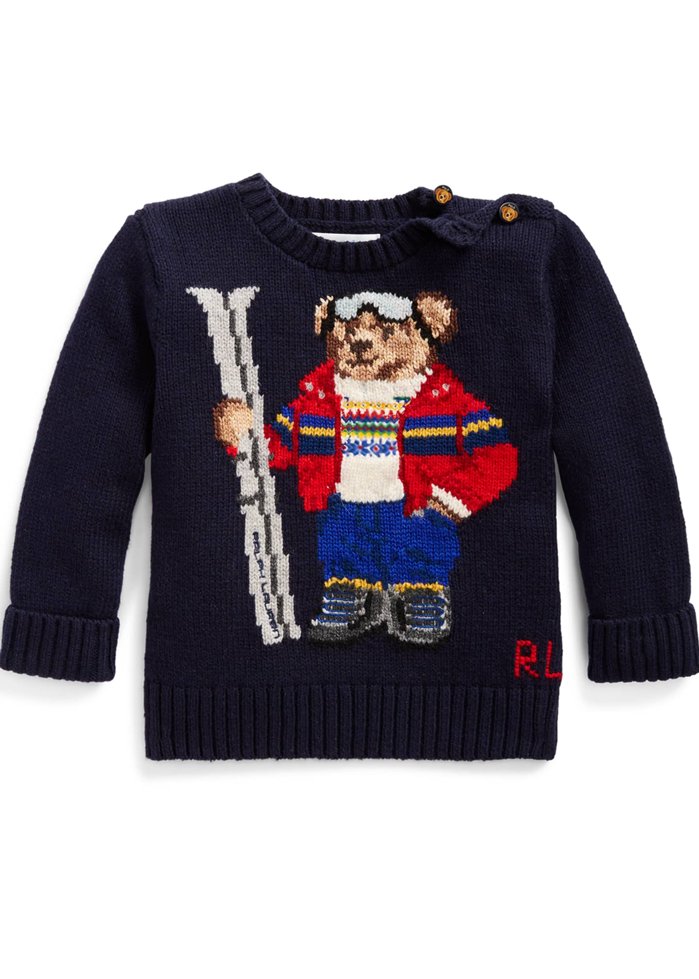 Ralph Lauren Childrenswear Boy's Skiing Bear Knit Sweater,