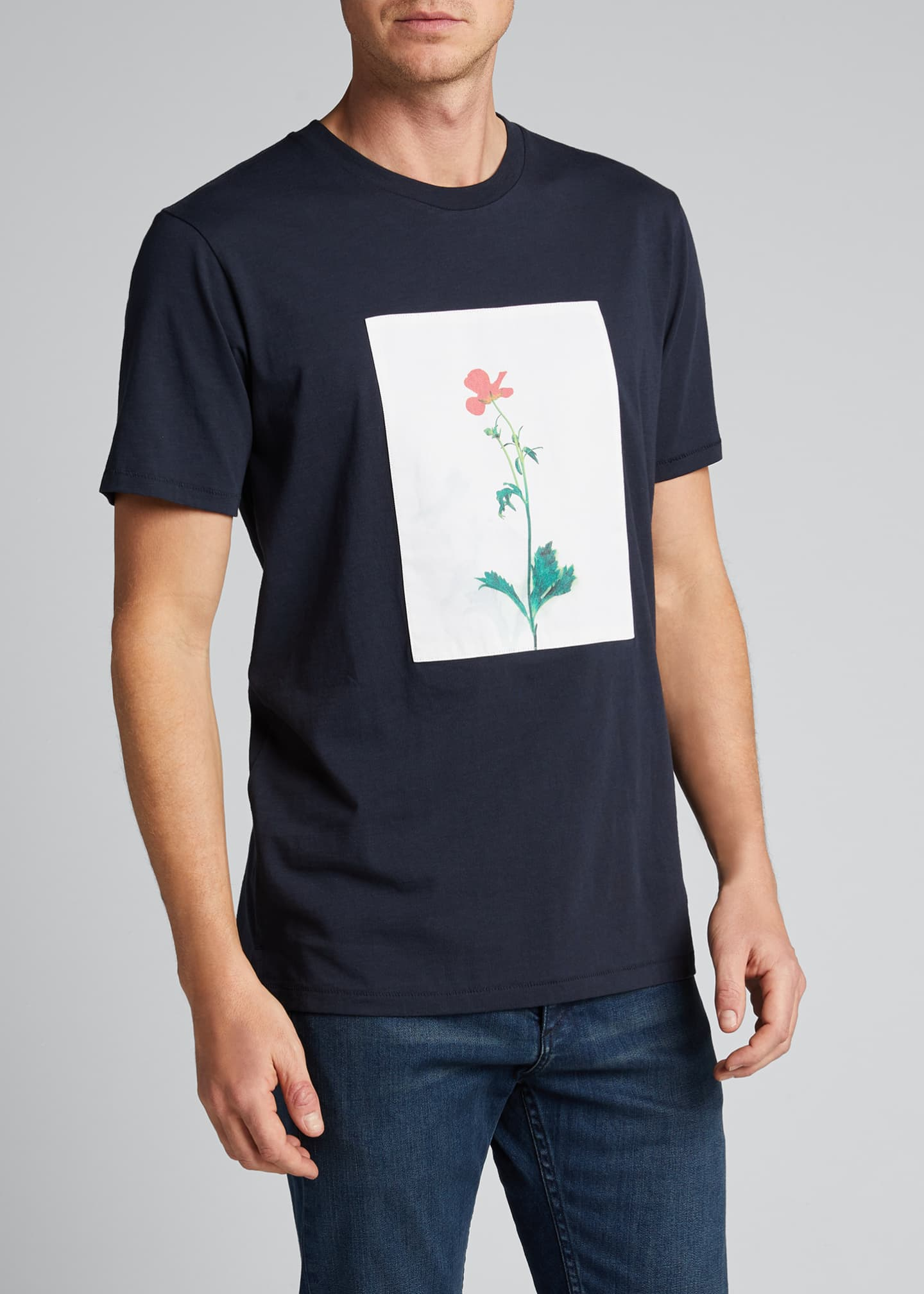 Image 3 of 5: Men's Flower Graphic T-Shirt