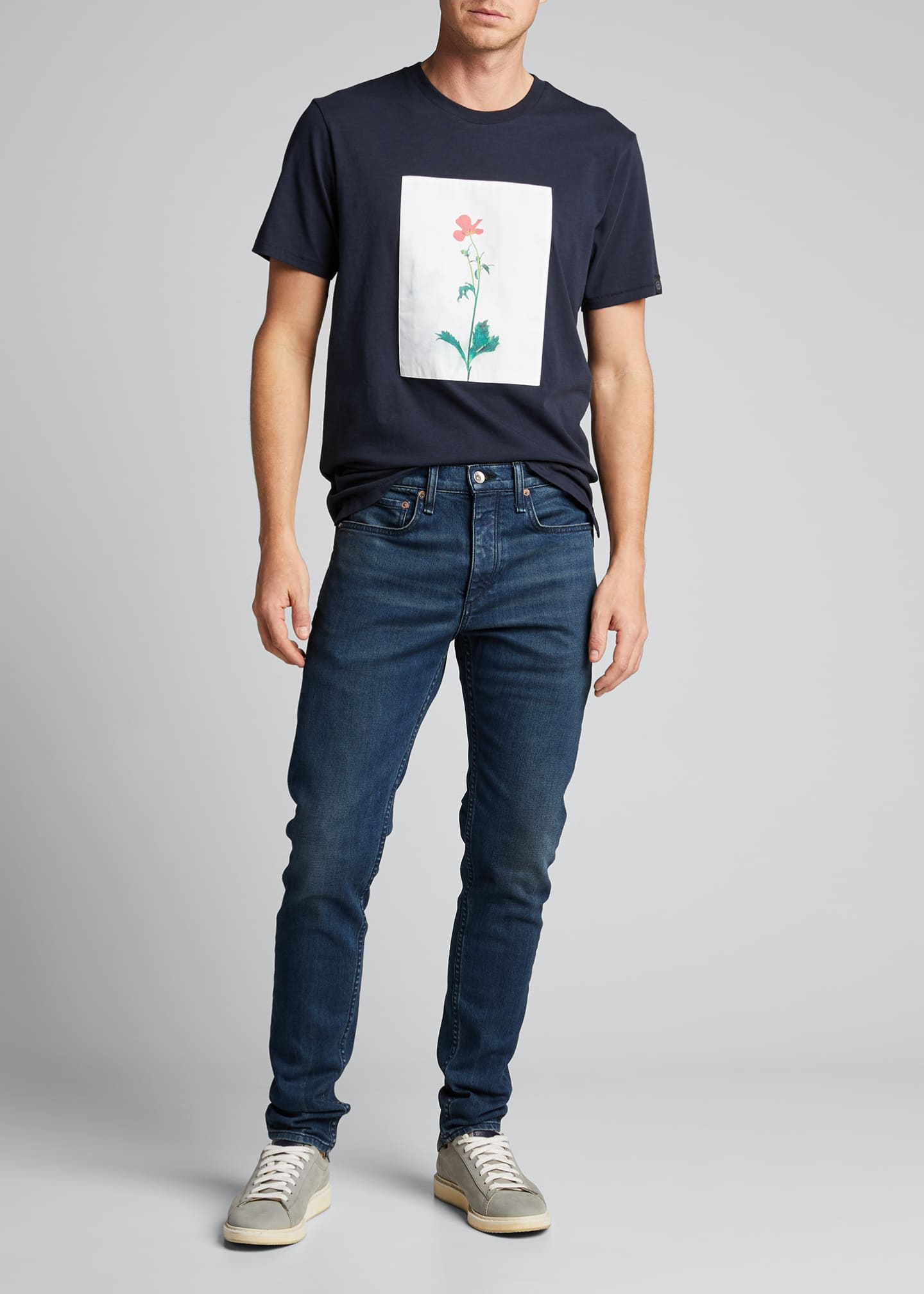 Image 1 of 5: Men's Flower Graphic T-Shirt