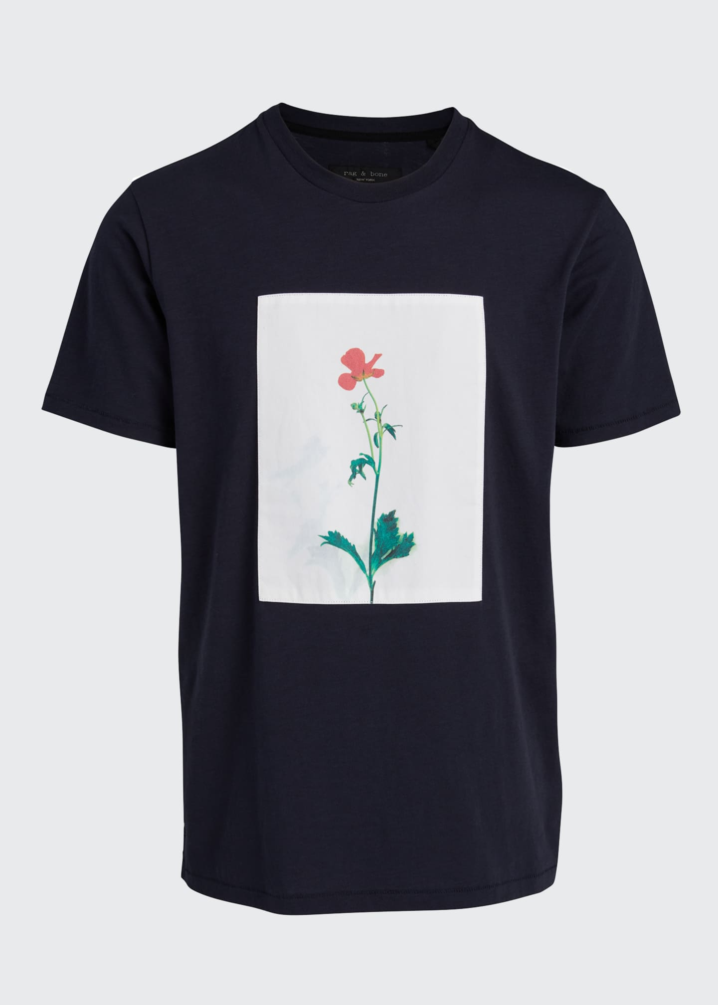 Image 5 of 5: Men's Flower Graphic T-Shirt