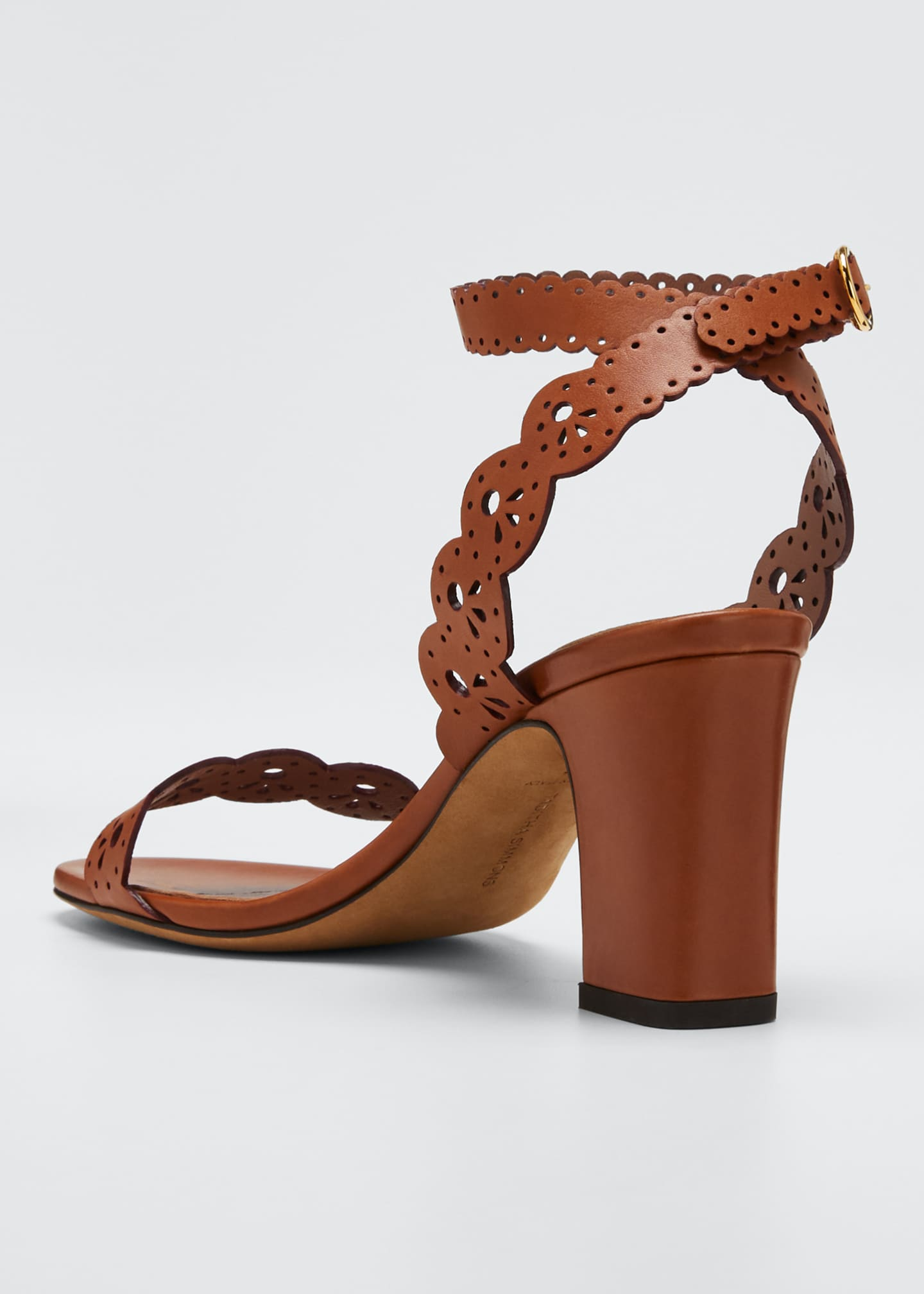 Image 2 of 3: Bobbin Scallop Ankle Heeled Sandals
